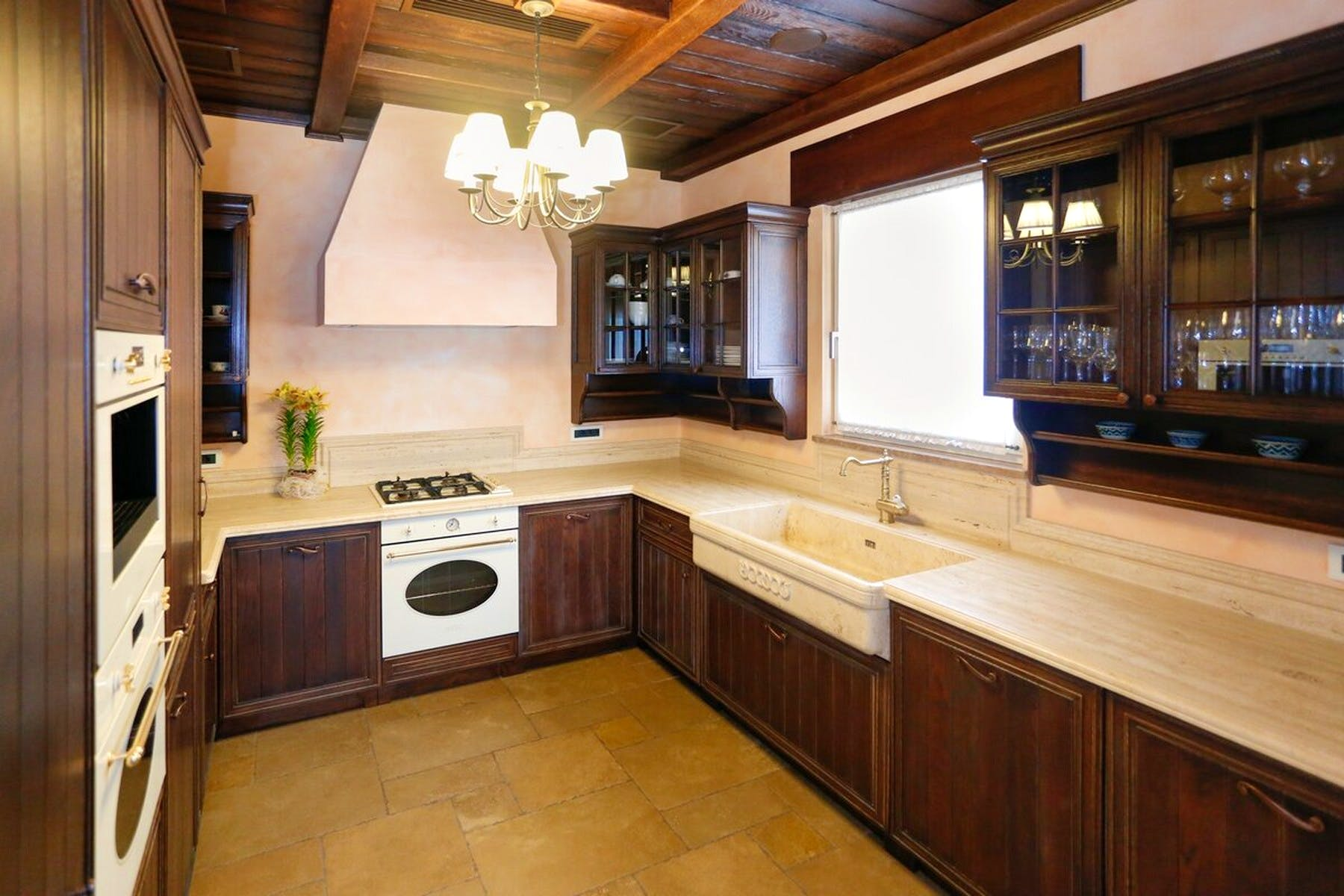 Large kitchen area with modern equipment