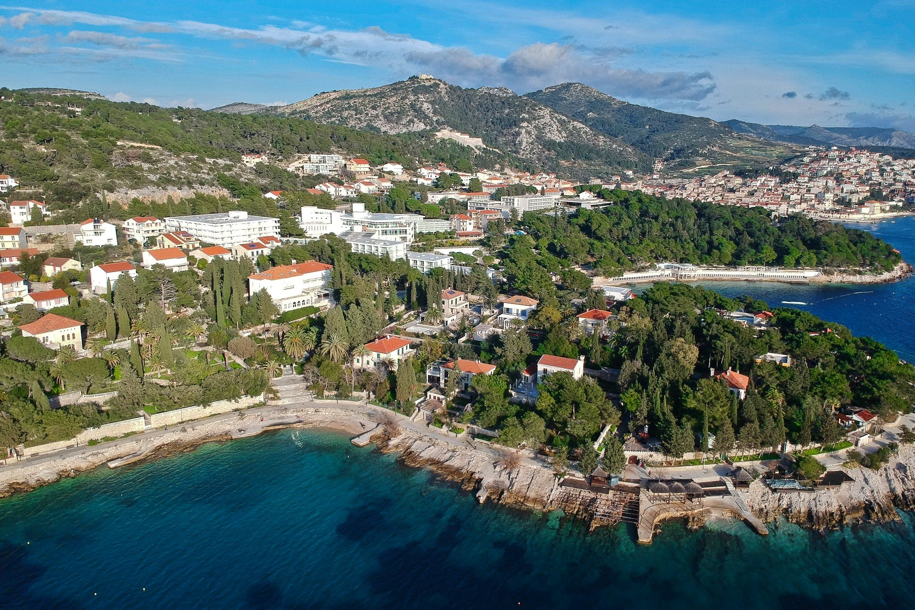 Panoramic view of Hvar