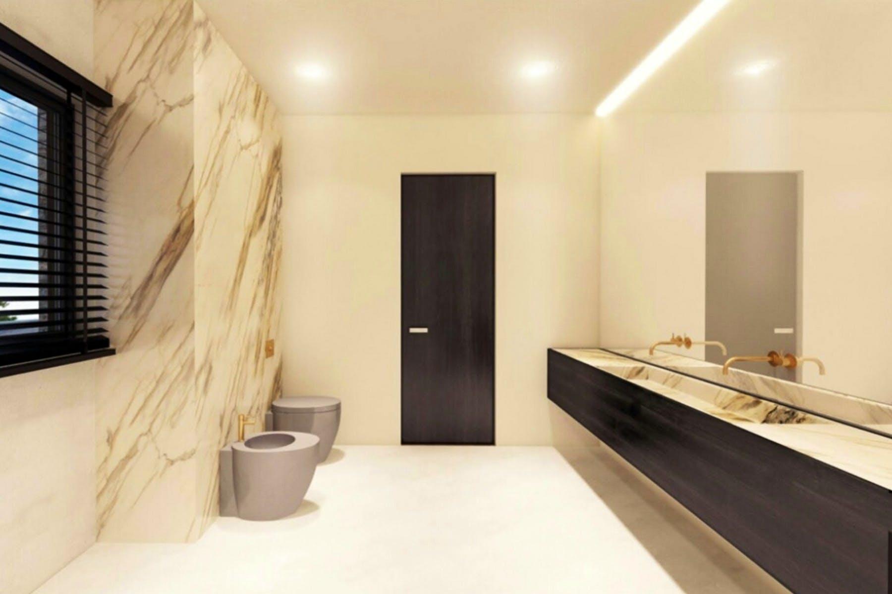 3D interior visualization of bathroom
