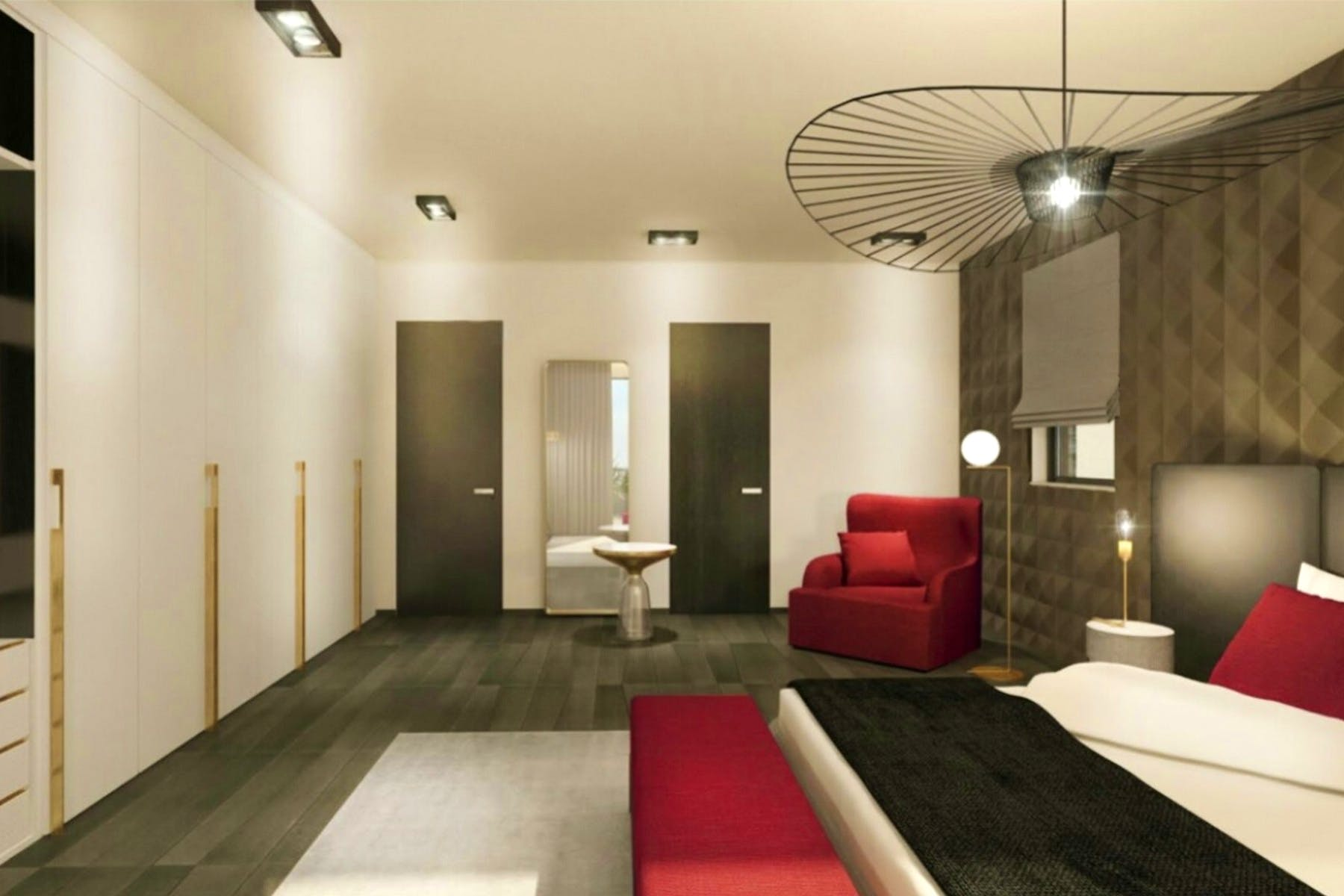 3D interior visualization of bedroom