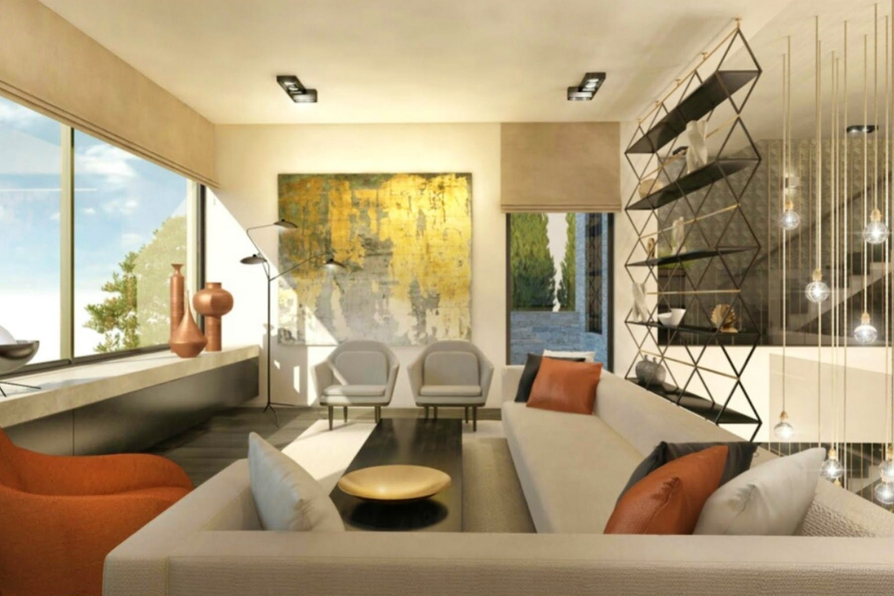 Contemporary interior design by renowned architect