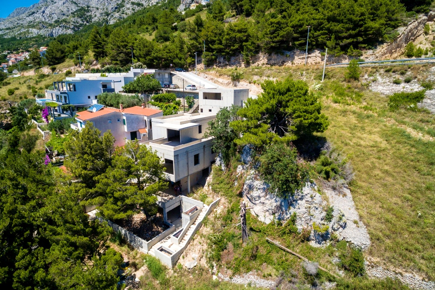 Villa for sale in roh bau stage of construction