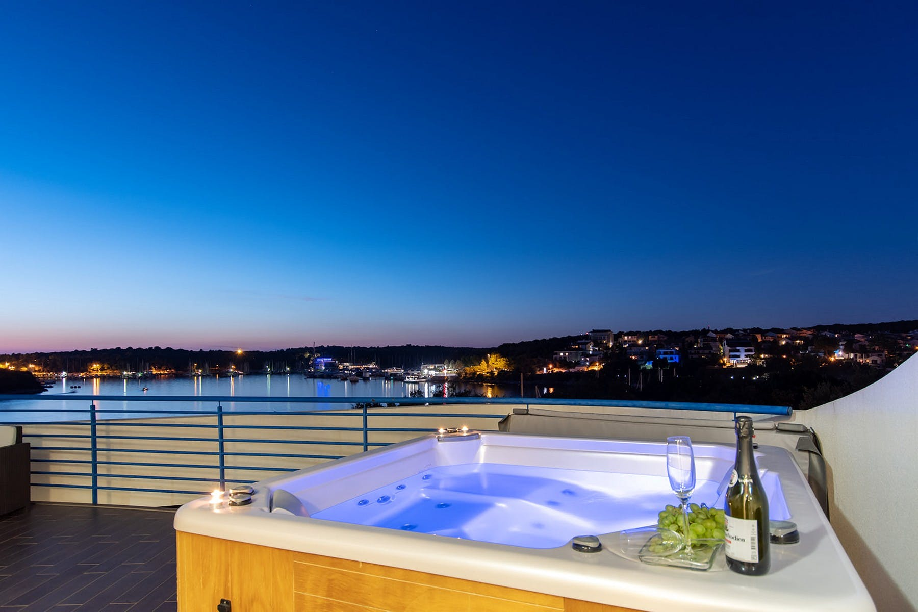 View of the bay from the whirlpool tub