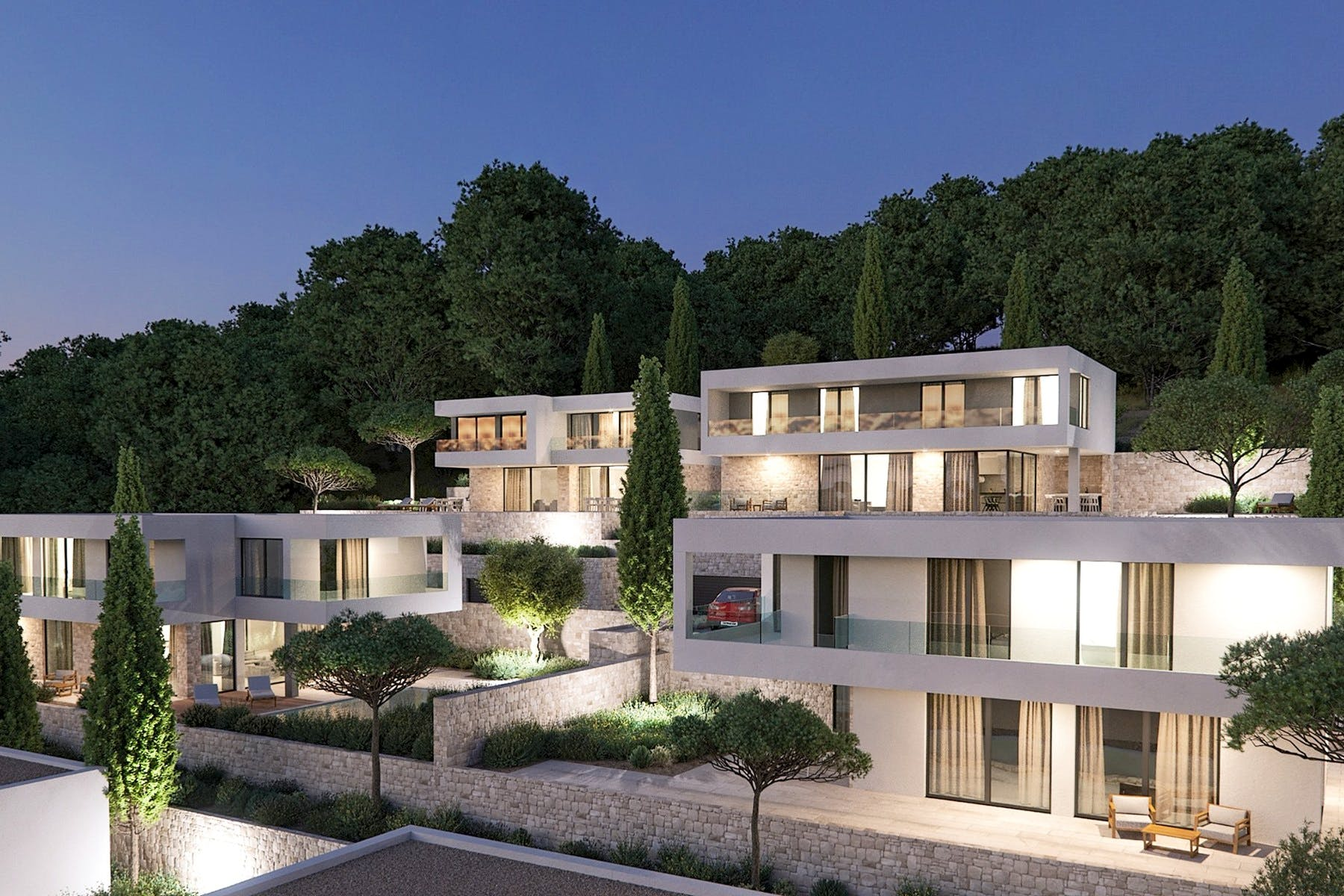 Modern villlas with sea view