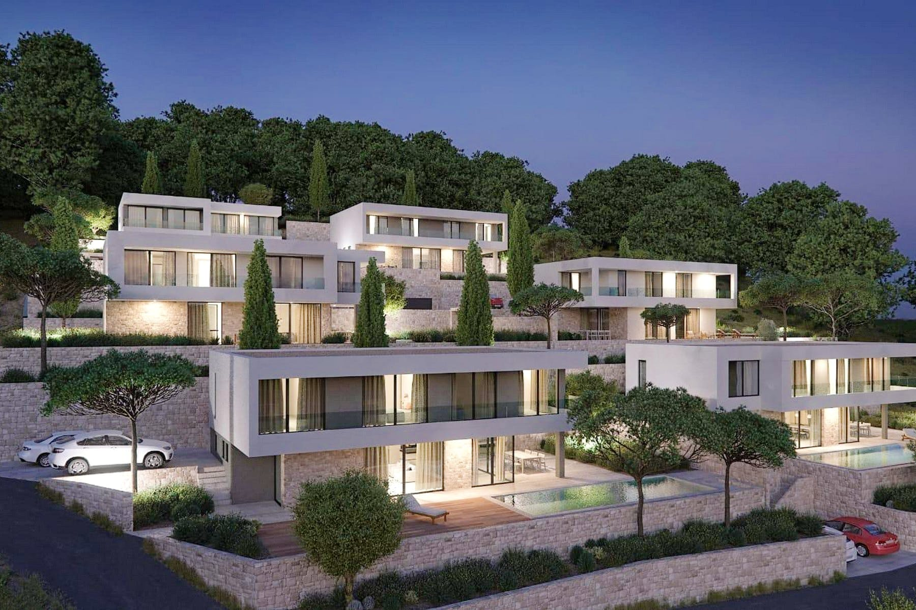 3 D of the villas