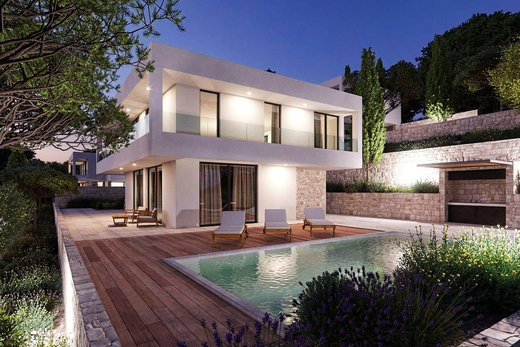 3 D of modern villa