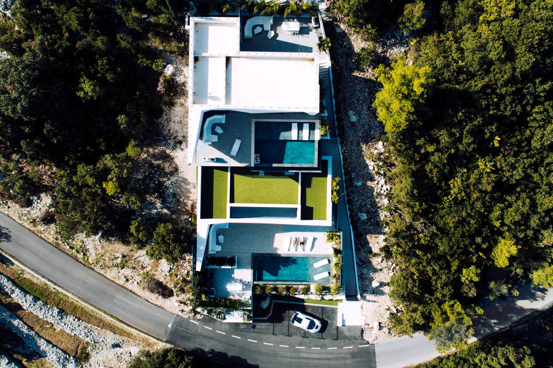 High end modern villa for sale on Korčula island