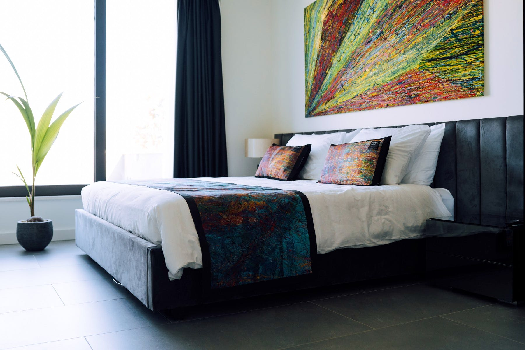 Spacious and stylish bedroom