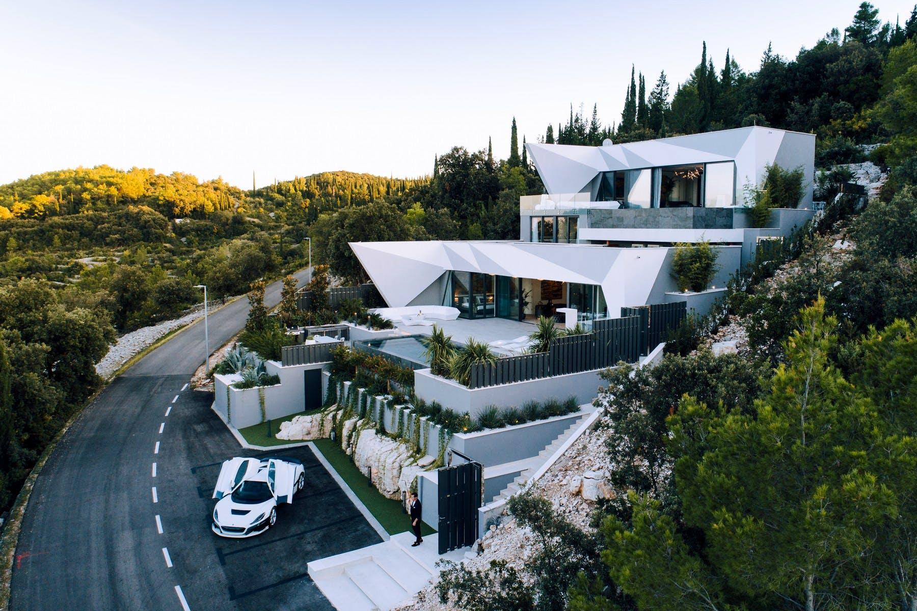 Modern villa with stunning sea view on Korčula island for sale