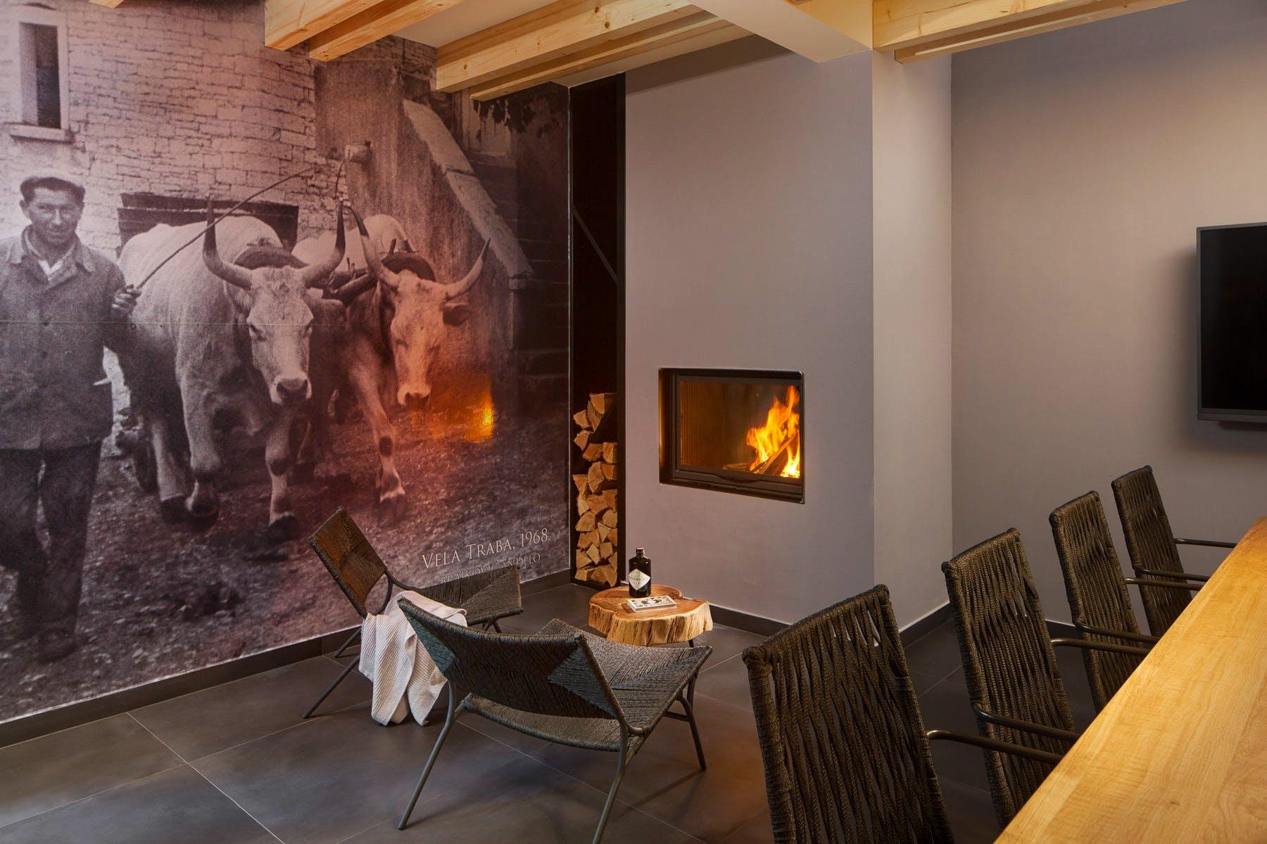 Cozy lounge corner in the villa