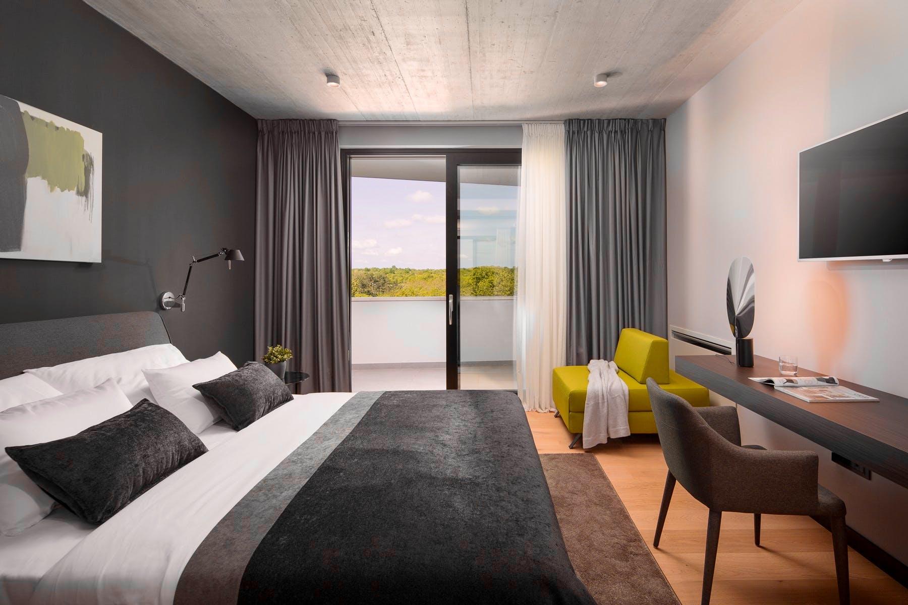 Luxury bedroom with balcony