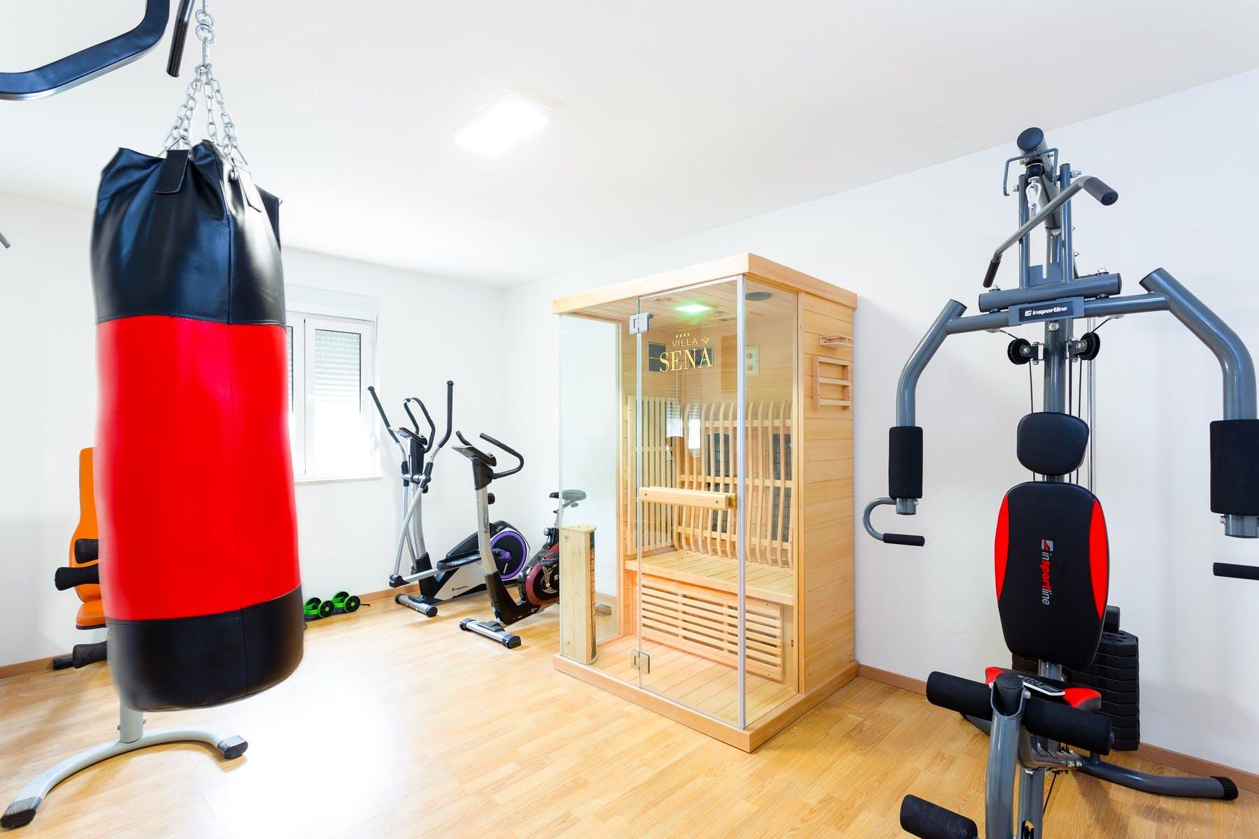 Gym with a sauna