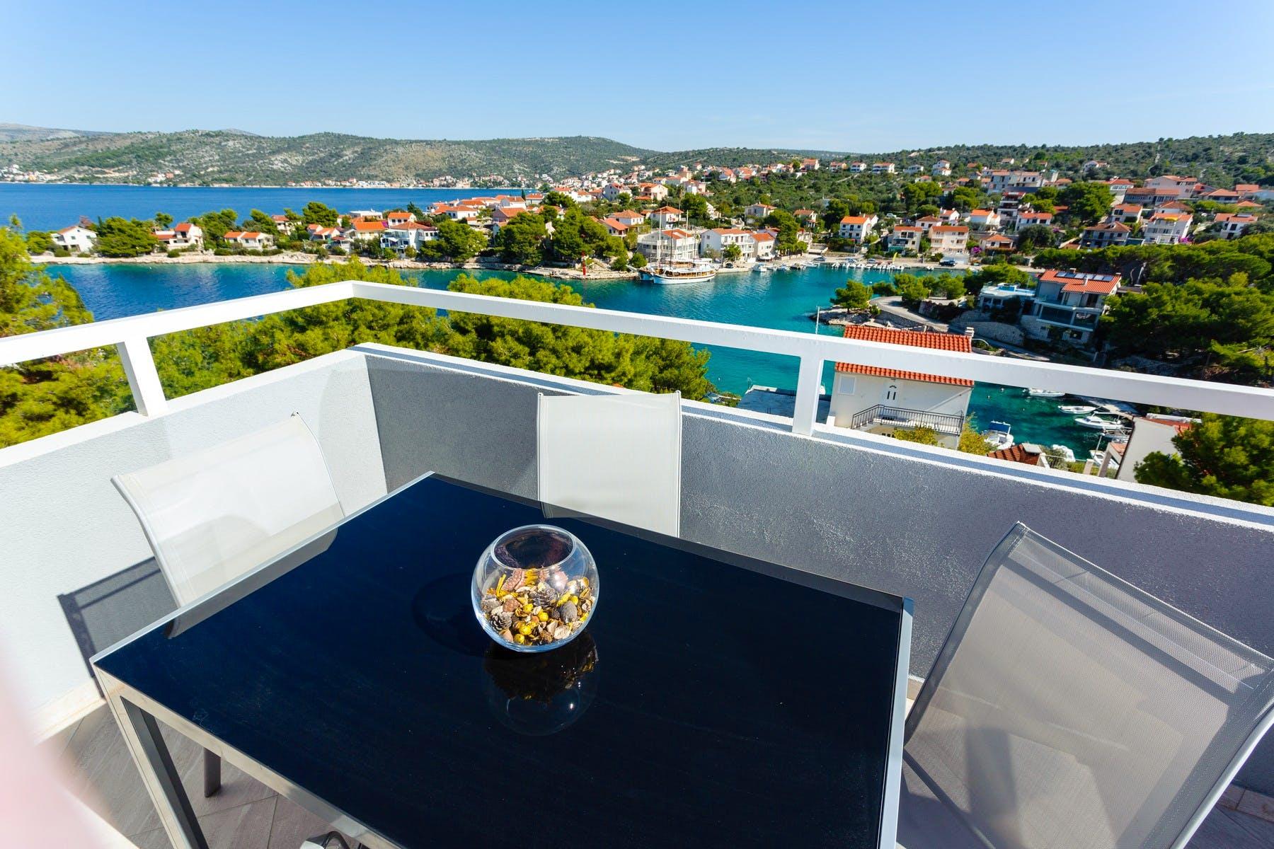 View from the apartment villa near Rogoznica for sale