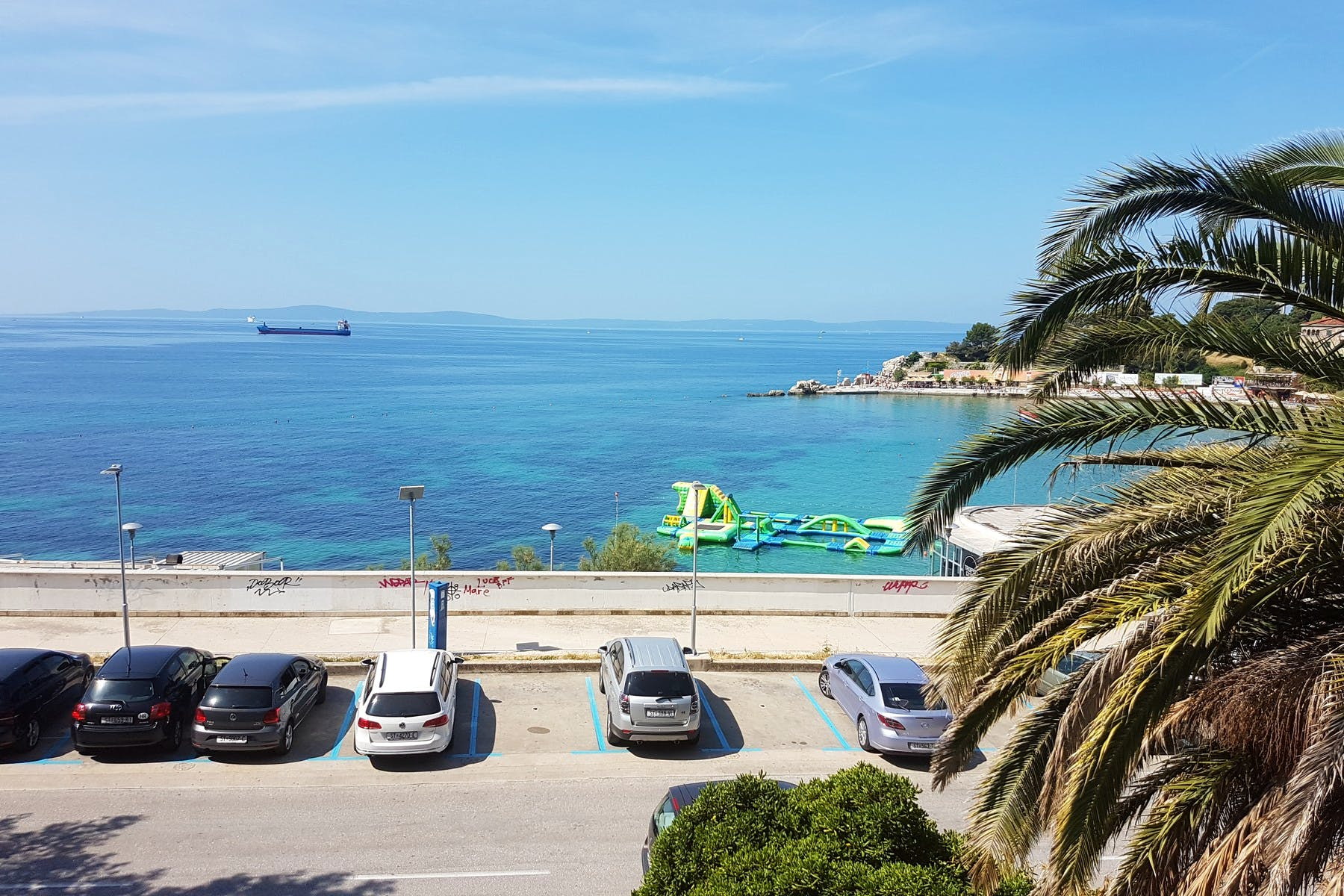 Sea view from the apartment in Split