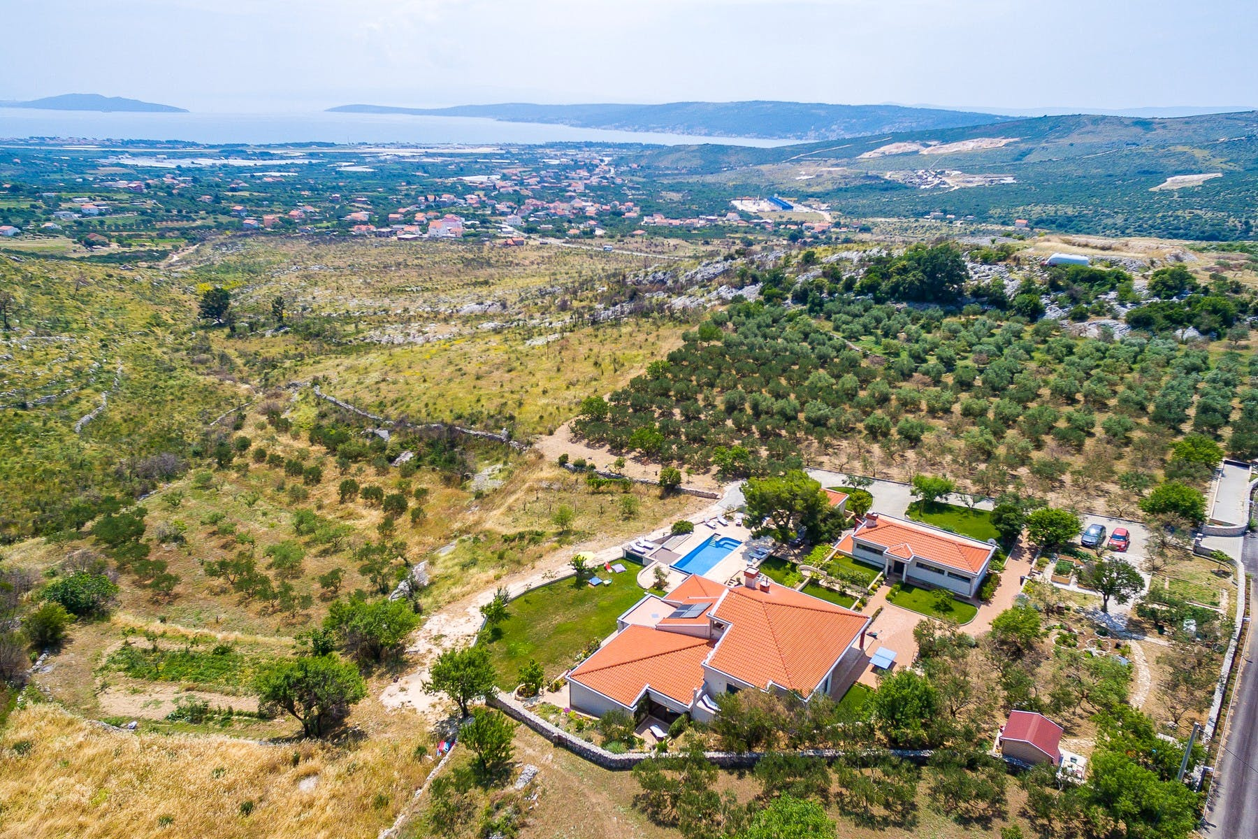 Luxurious villa with a breathtaking view, near Trogir for sale