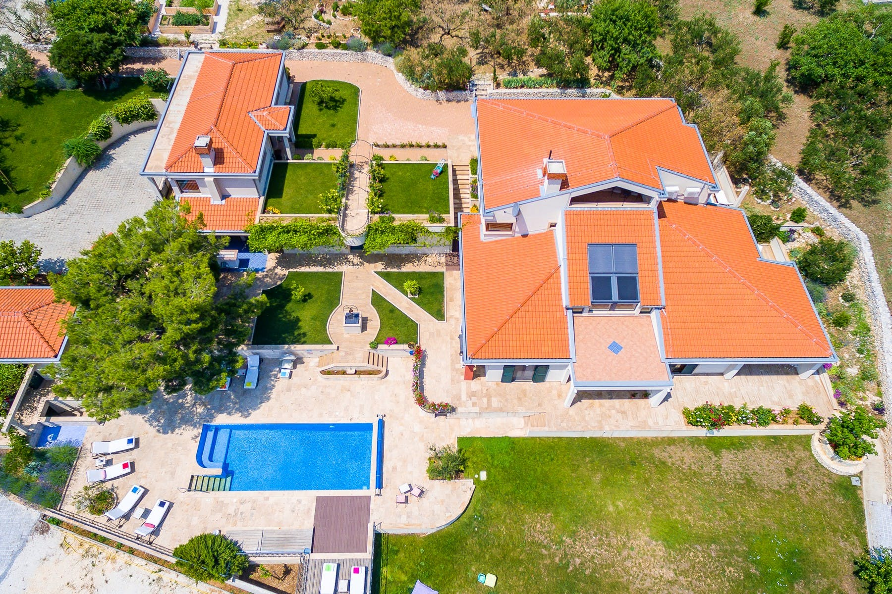 Panoramic view of the villa