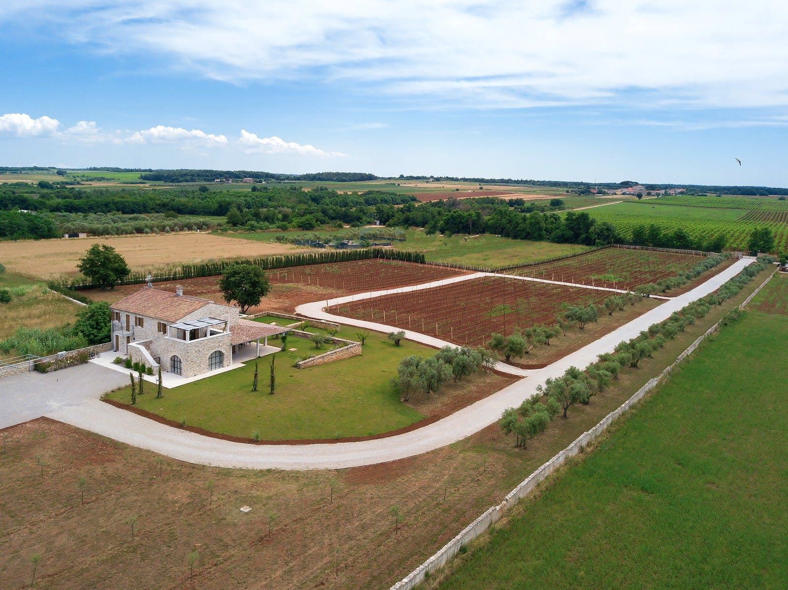 Villa for rent on a large cultivated plot