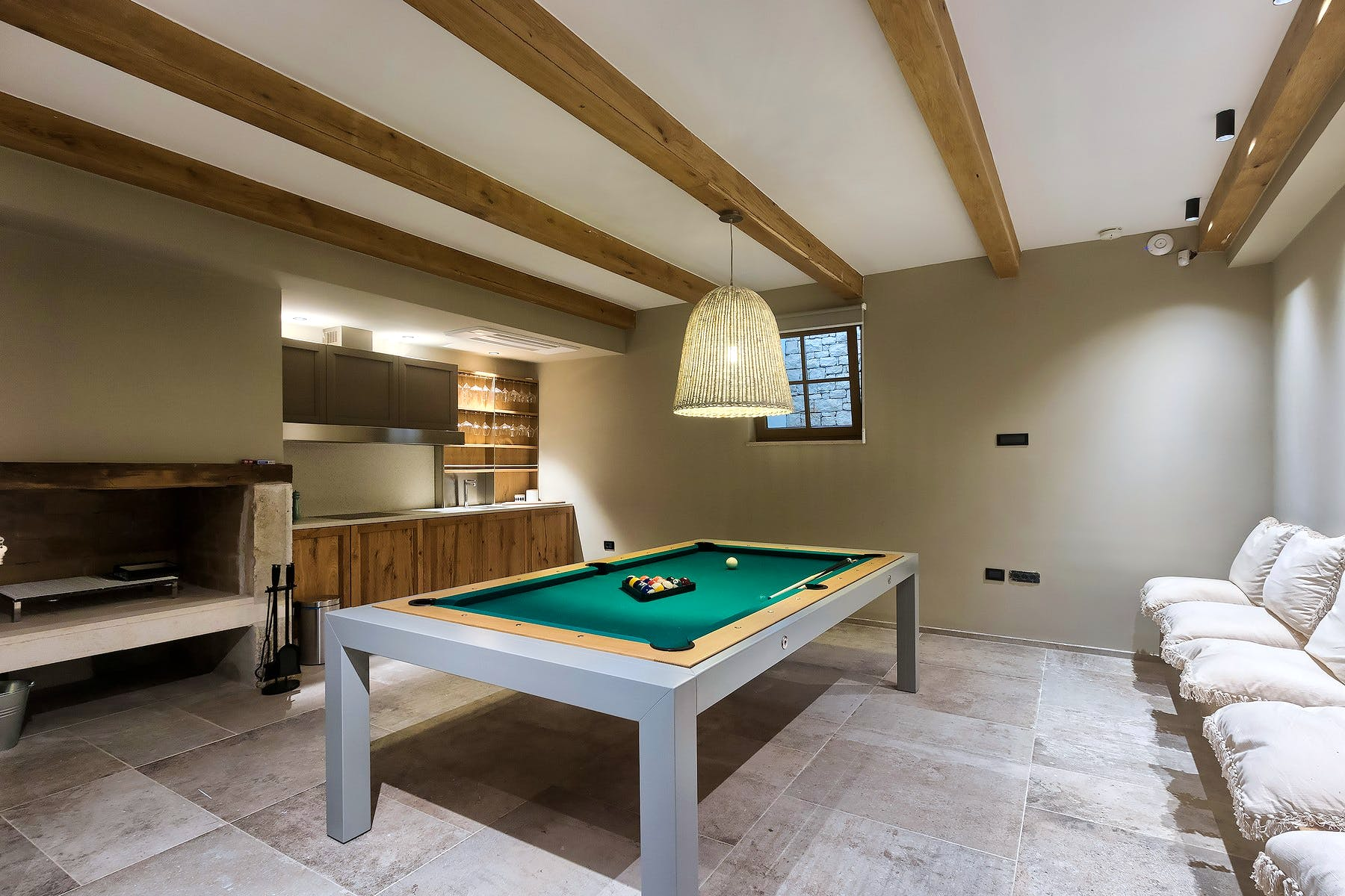Pool tabble in the game room