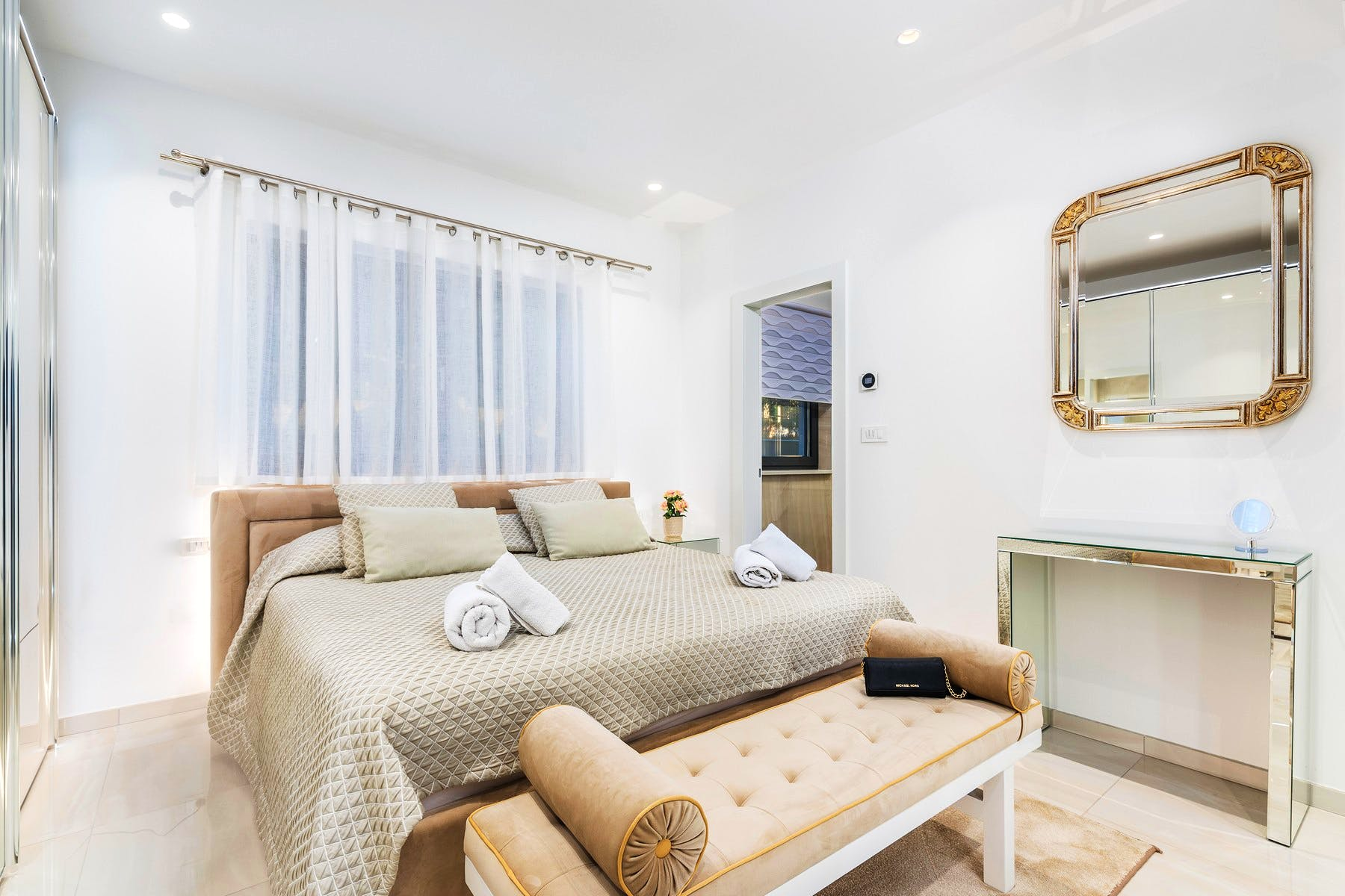 Warm and cozy bedroom area