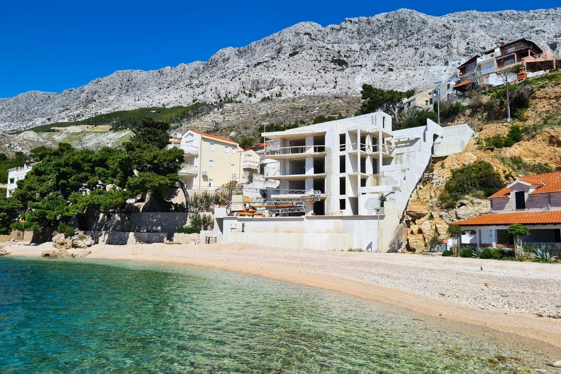 Seafront villa under construction for sale