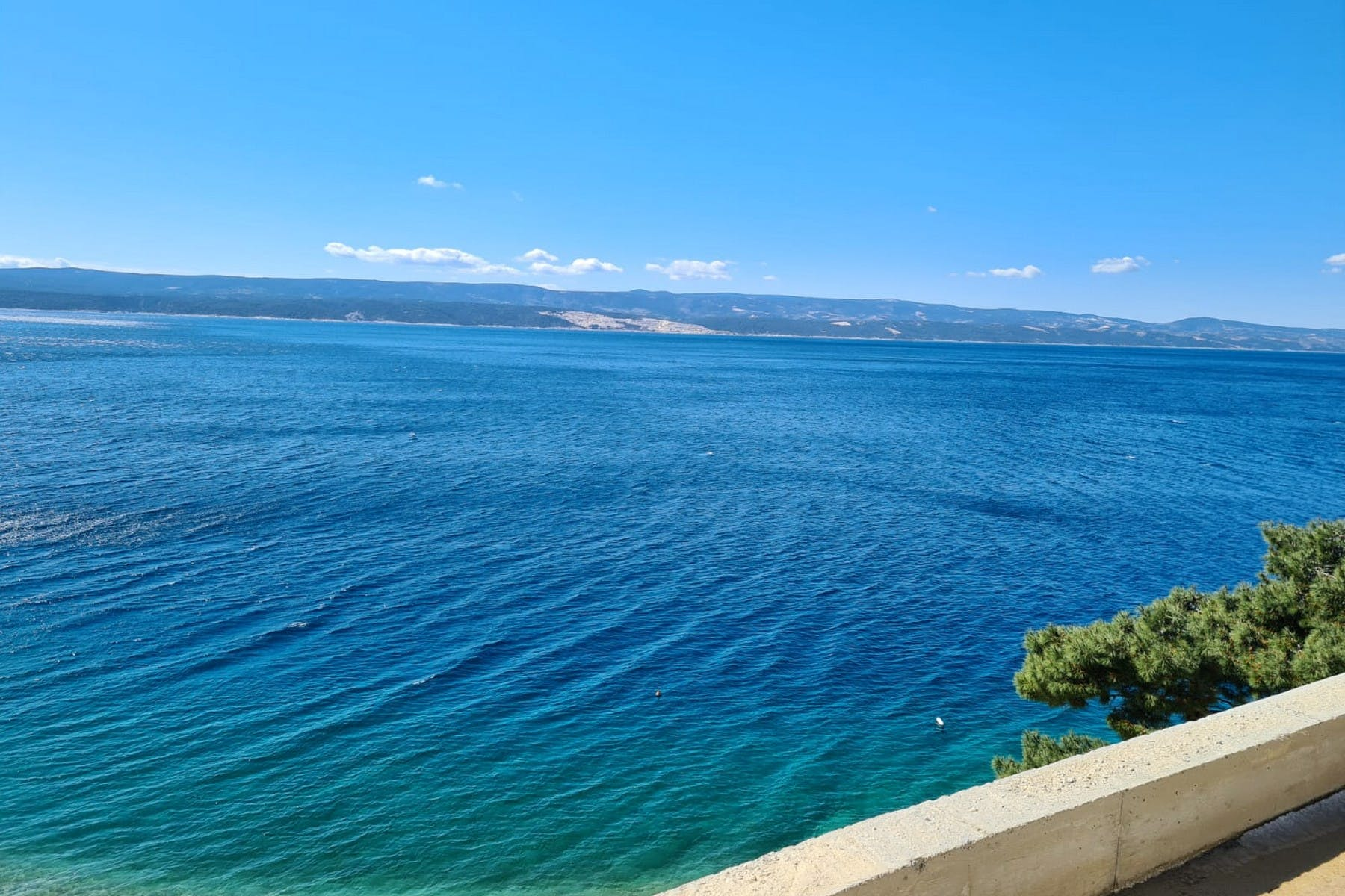 Unobstructed sea view form the villa near Omiš for sale