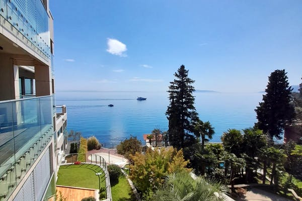 Stunning sea view from the apartment in Opatija for sale