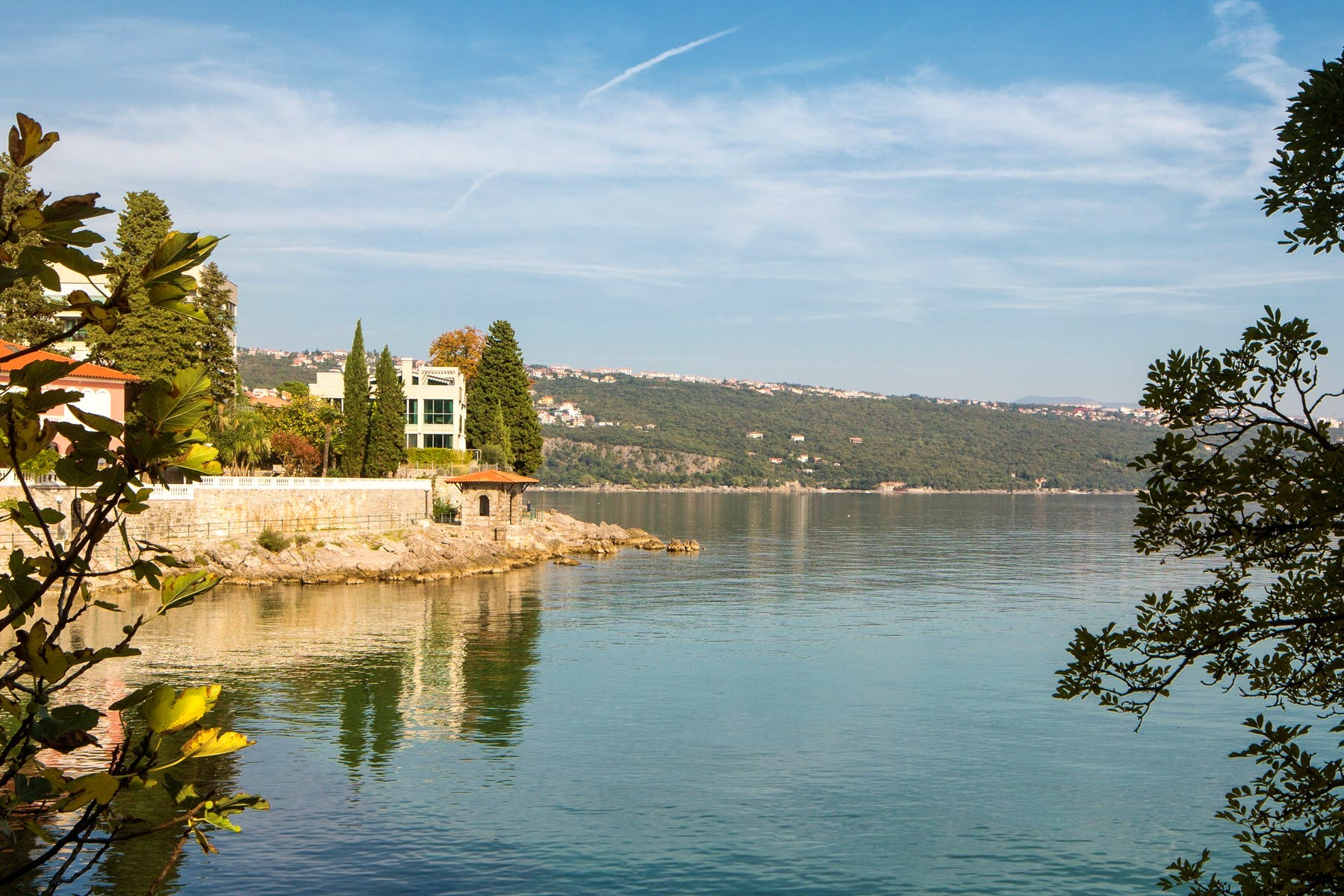 Seafront apartment in an exclusive location in Opatija for sale