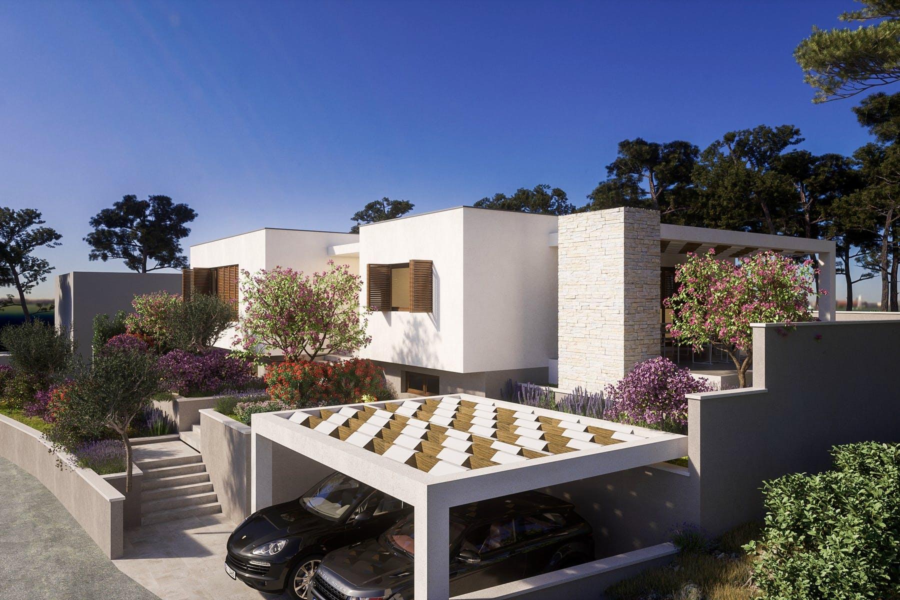 Newly built villa by the sea in a quiet environment near Šibenik for sale