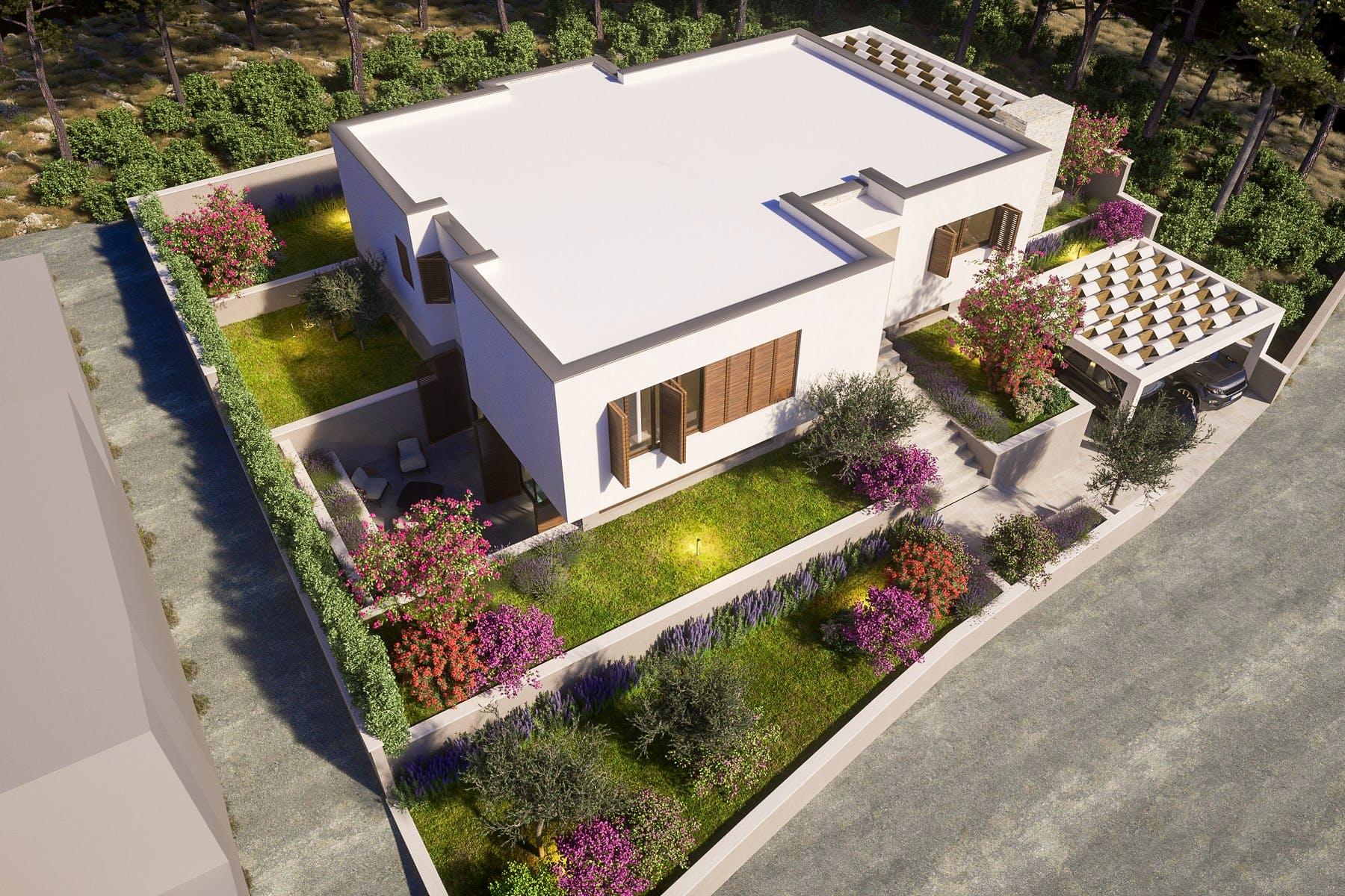 Seafront villa with Mediterranean garden for sale