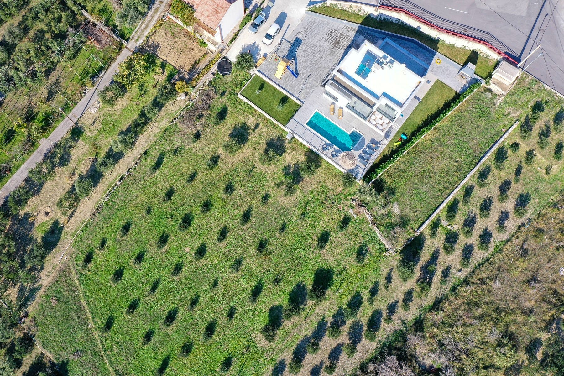 Panoramic view of villa for sale near Split