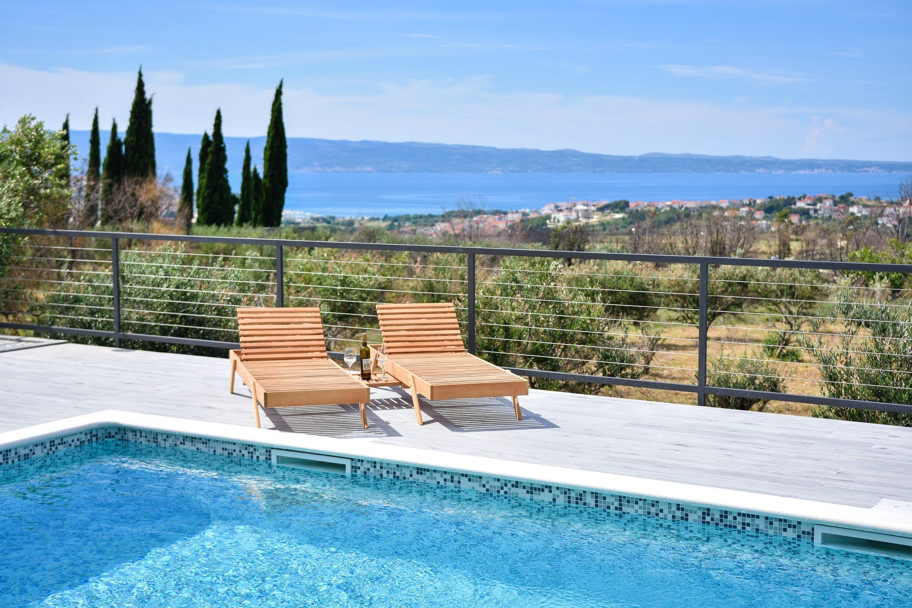 Open sea view from the villa near Split