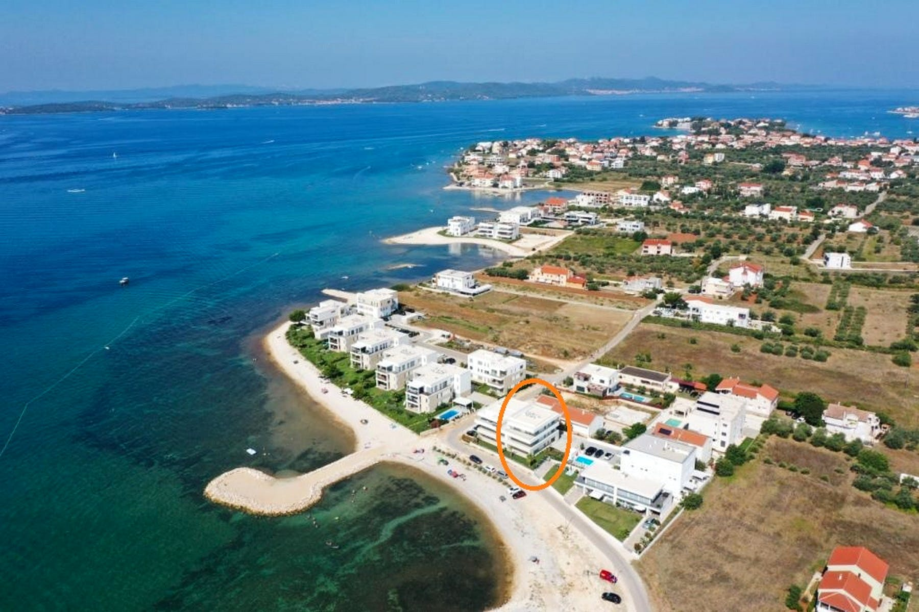 Apartments for sale in the first row to the sea
