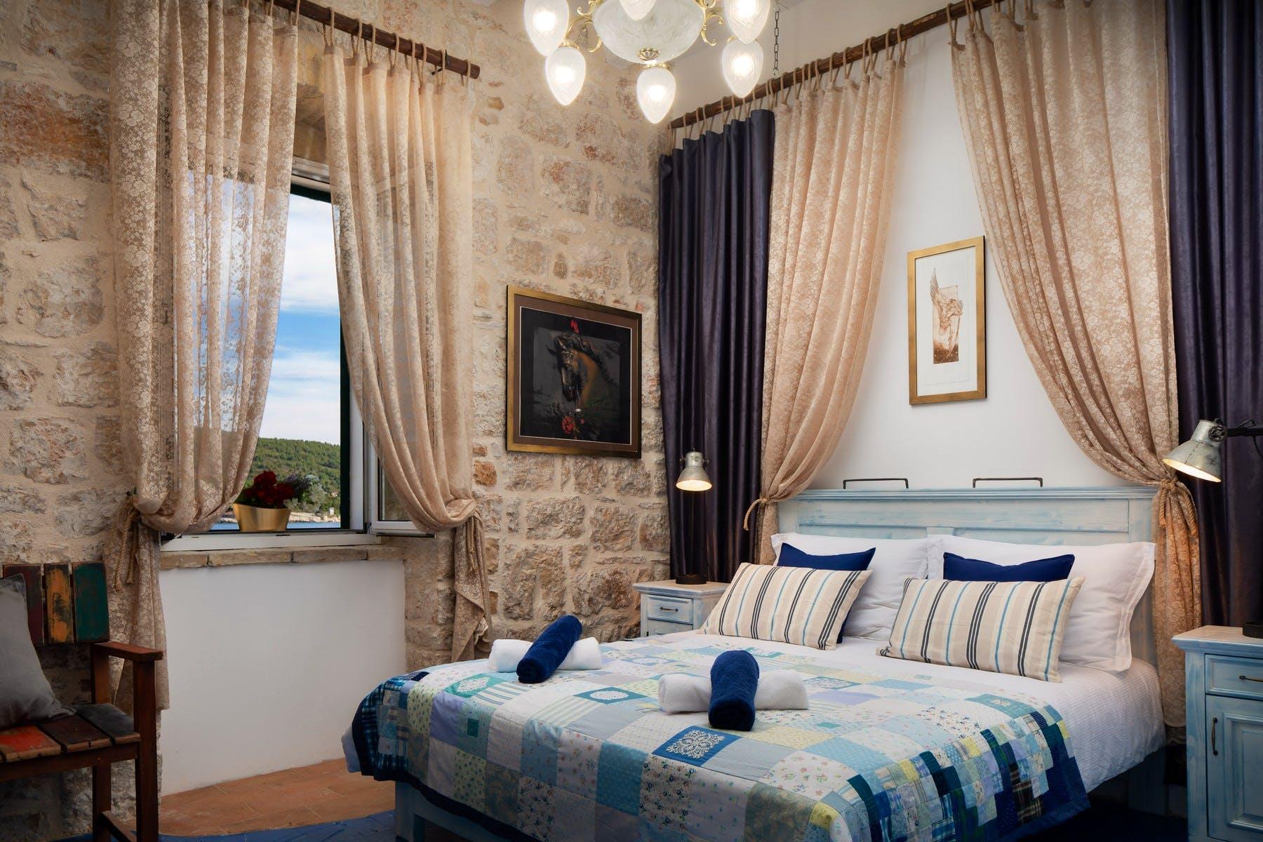 Rustic style double bedroom