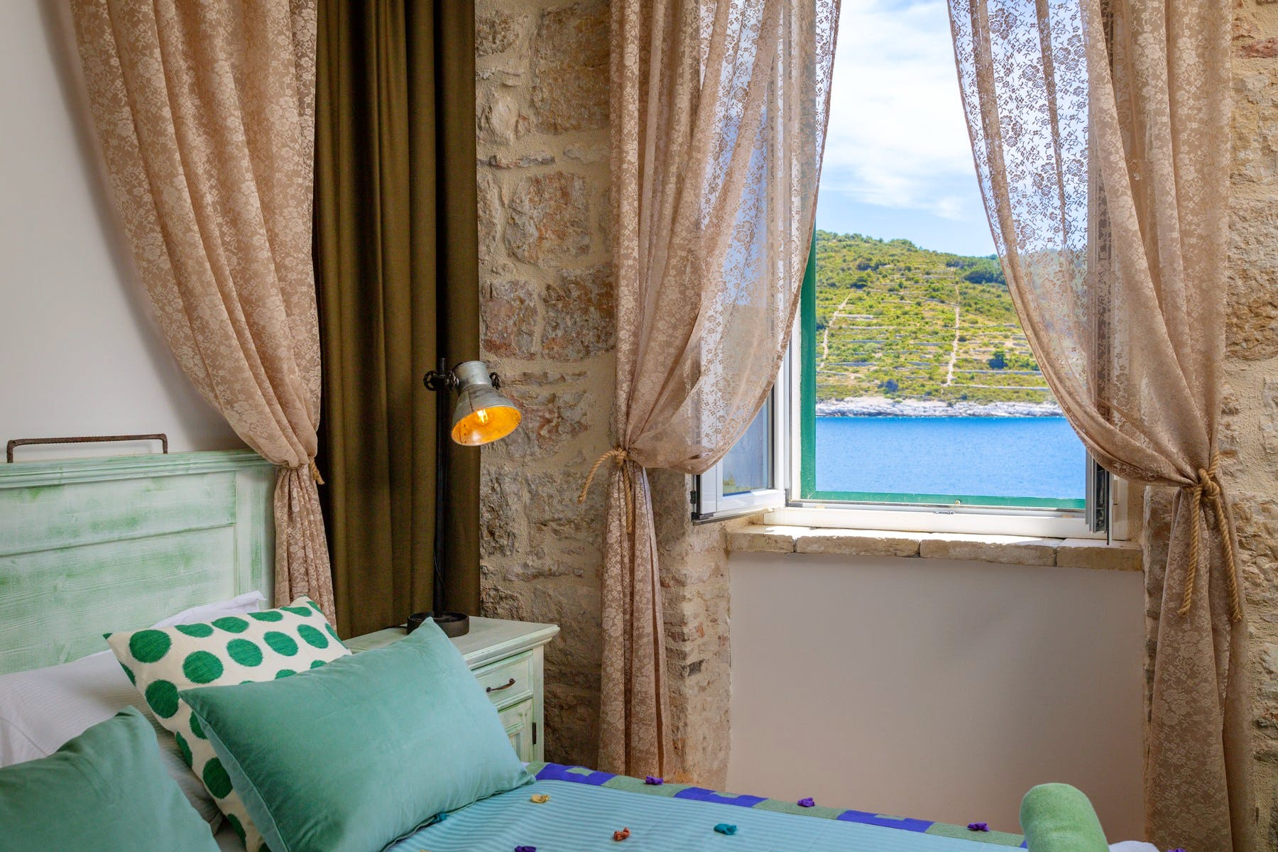 Breathtaking sea view from the bedroom