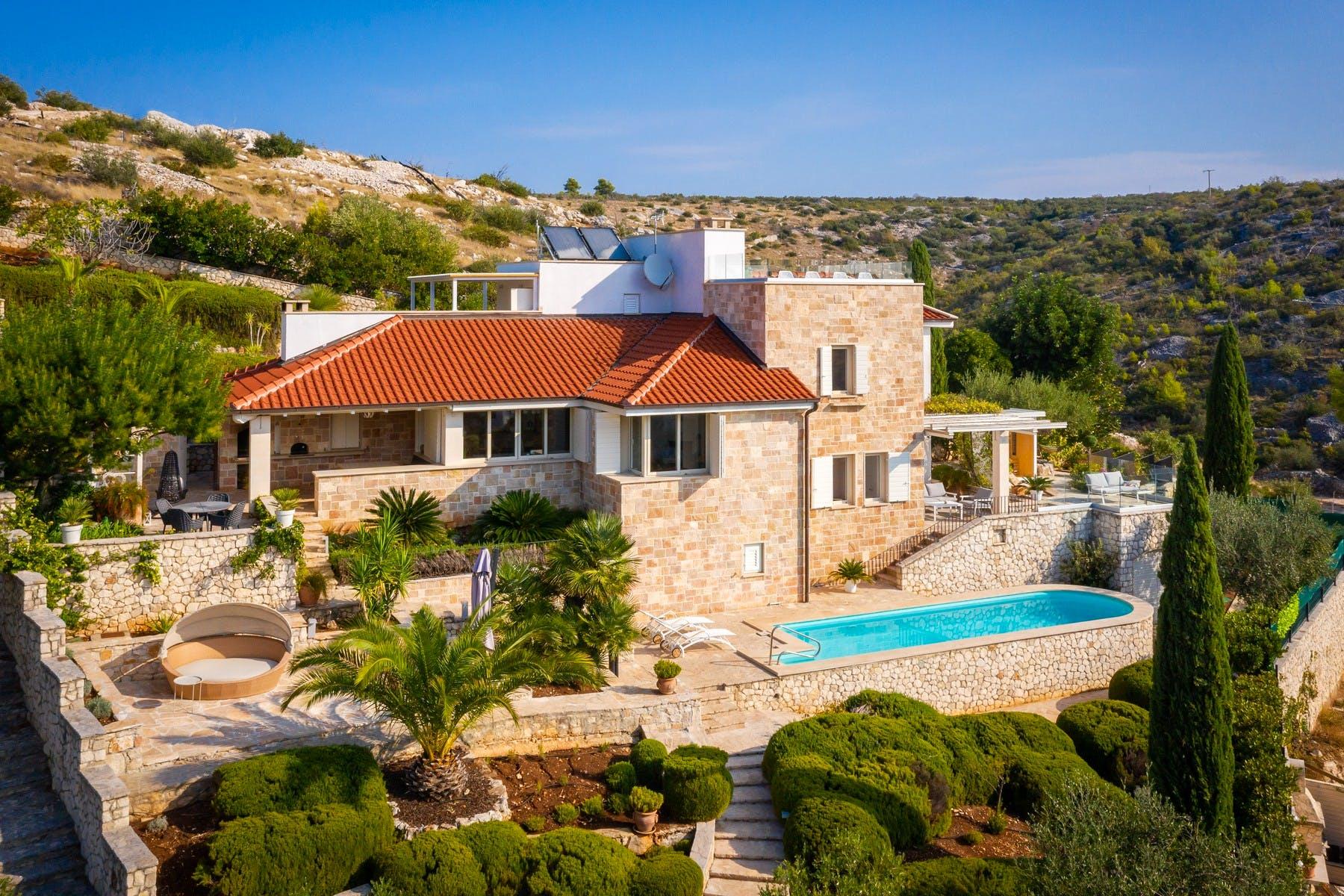Luxury stone villa for sale