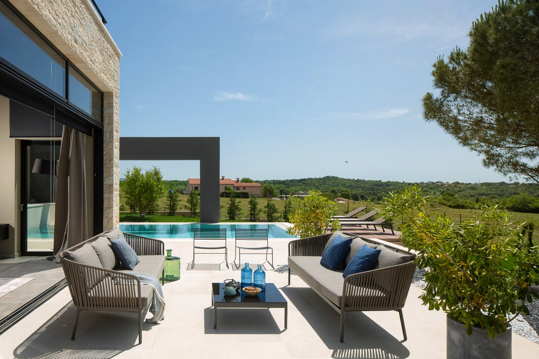 Modern villas with swimming pool in Istria