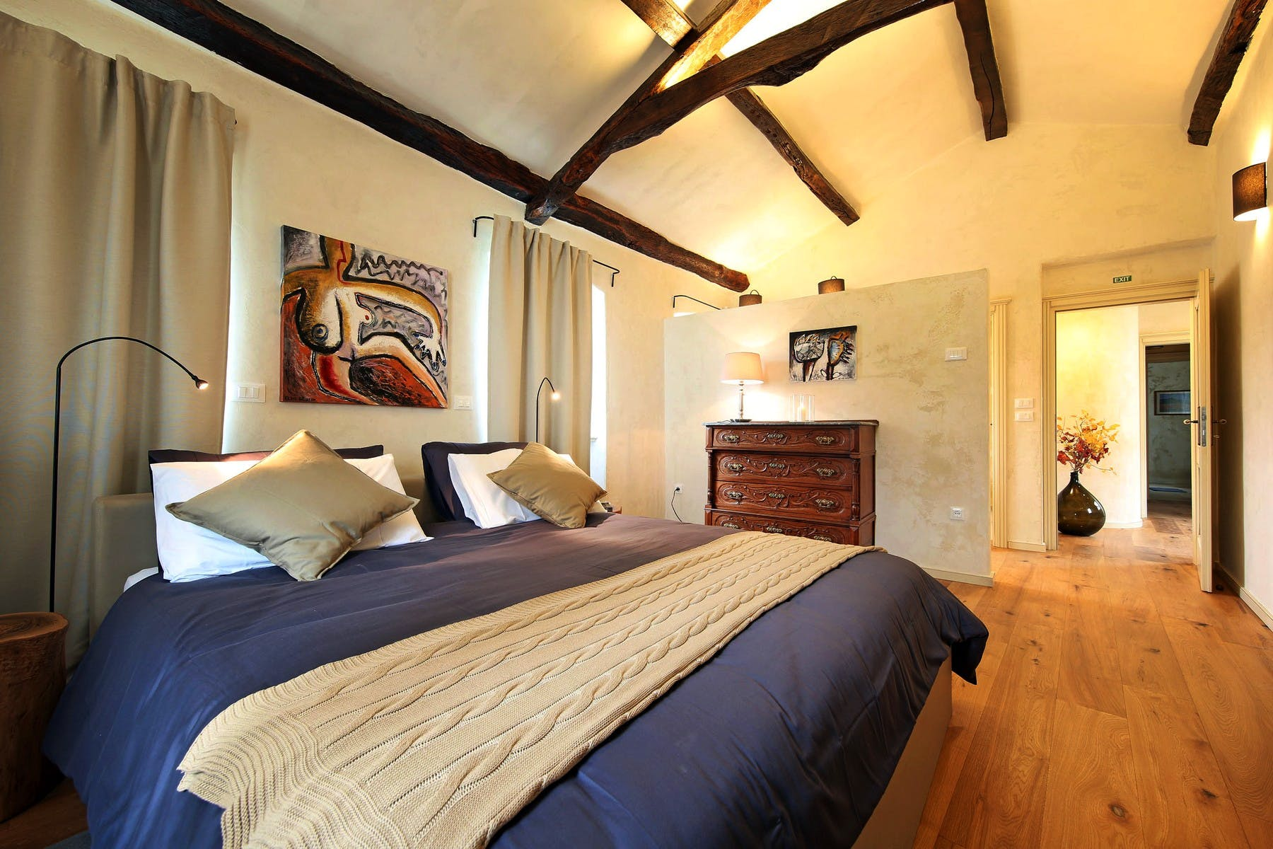 Double bedroom with traditional interior details