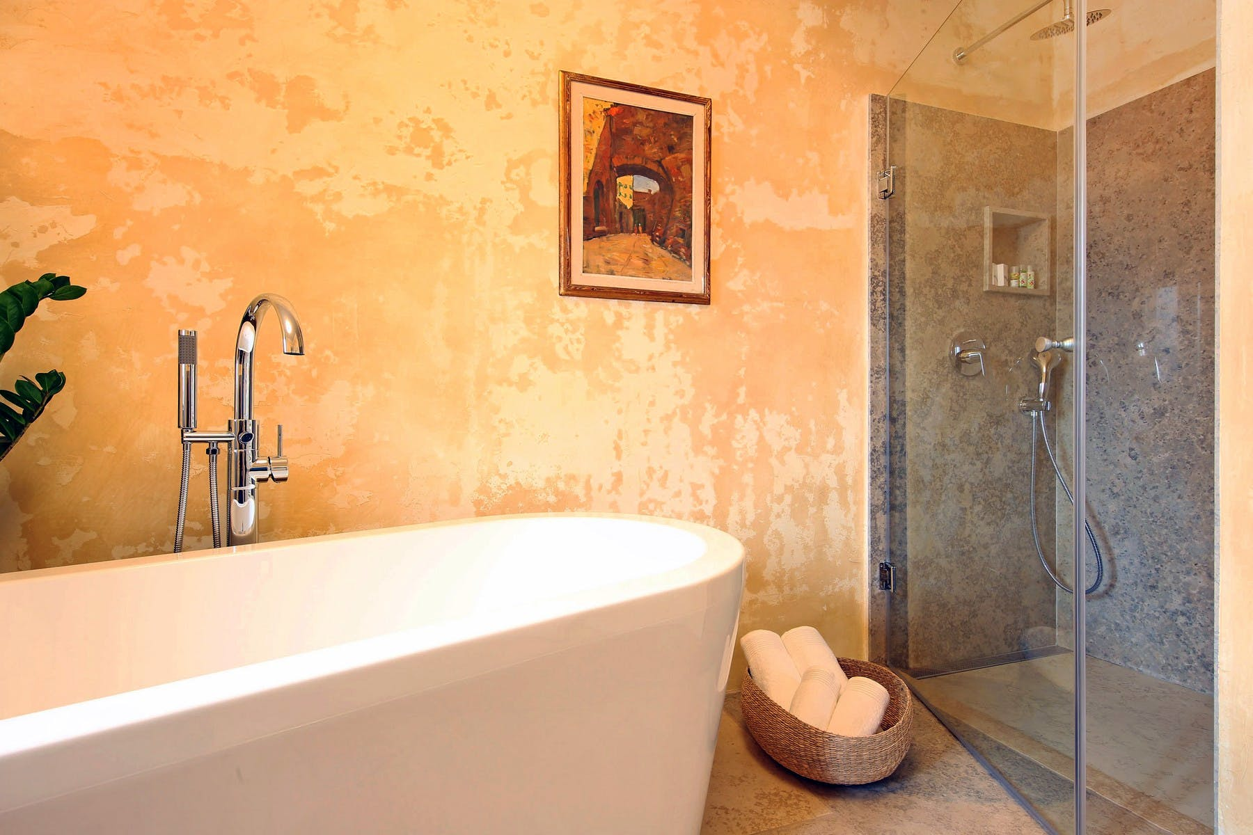 Bathroom details and amenities