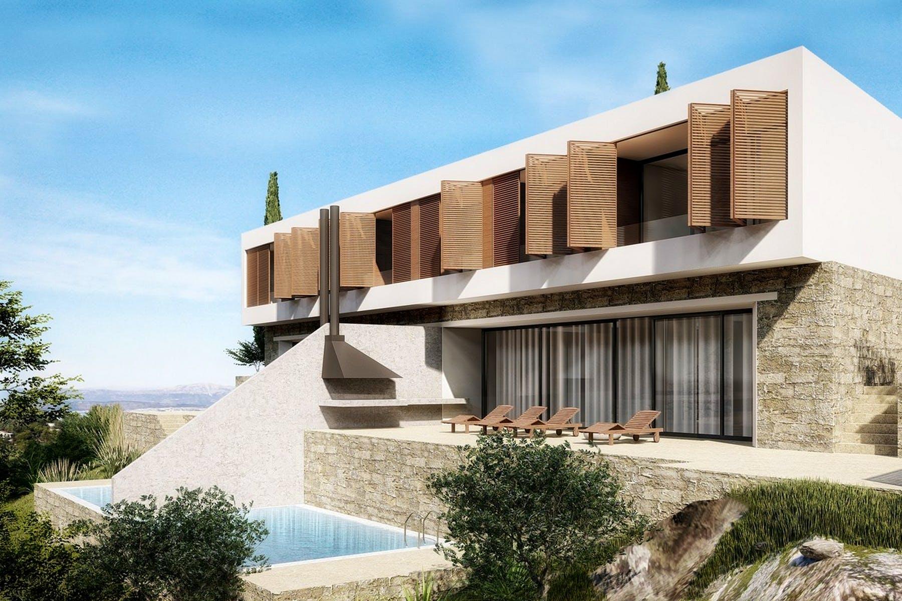 Prodaju se parcele s projektom modernih vila na Šolti