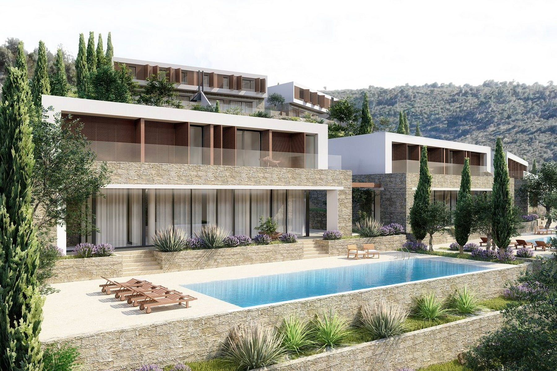 Plot with project of modern villa for sale