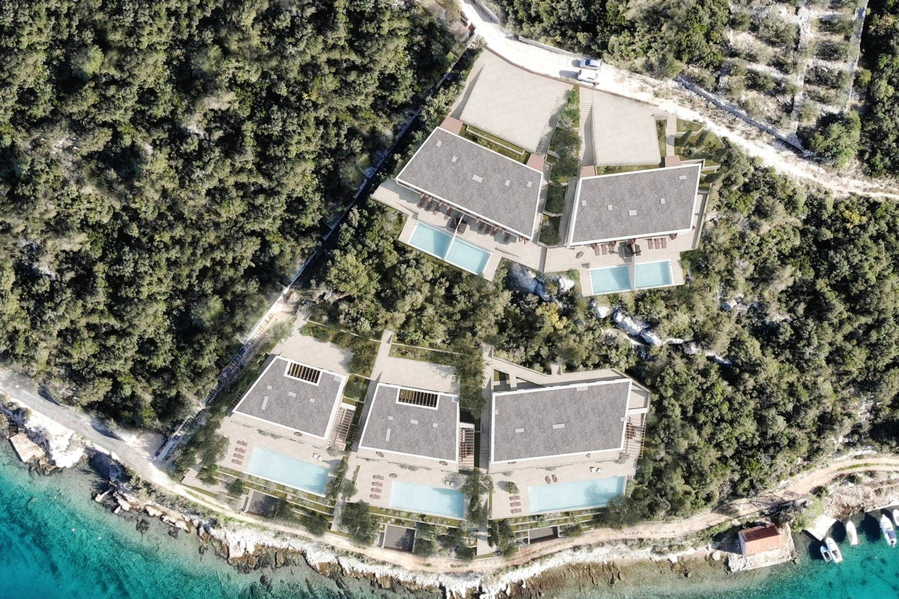 Exclusive seafront plot on Šolta