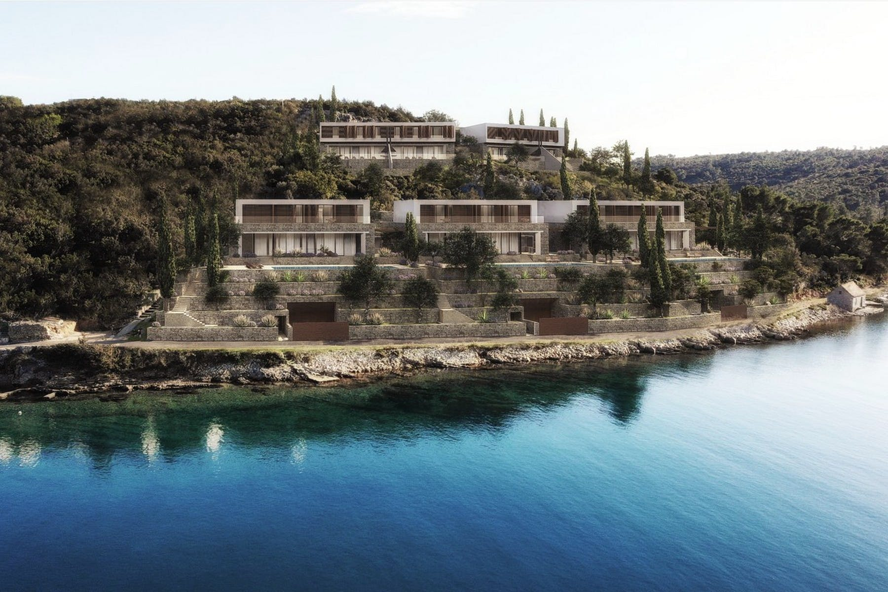 Building plot with a project on Šolta for sale