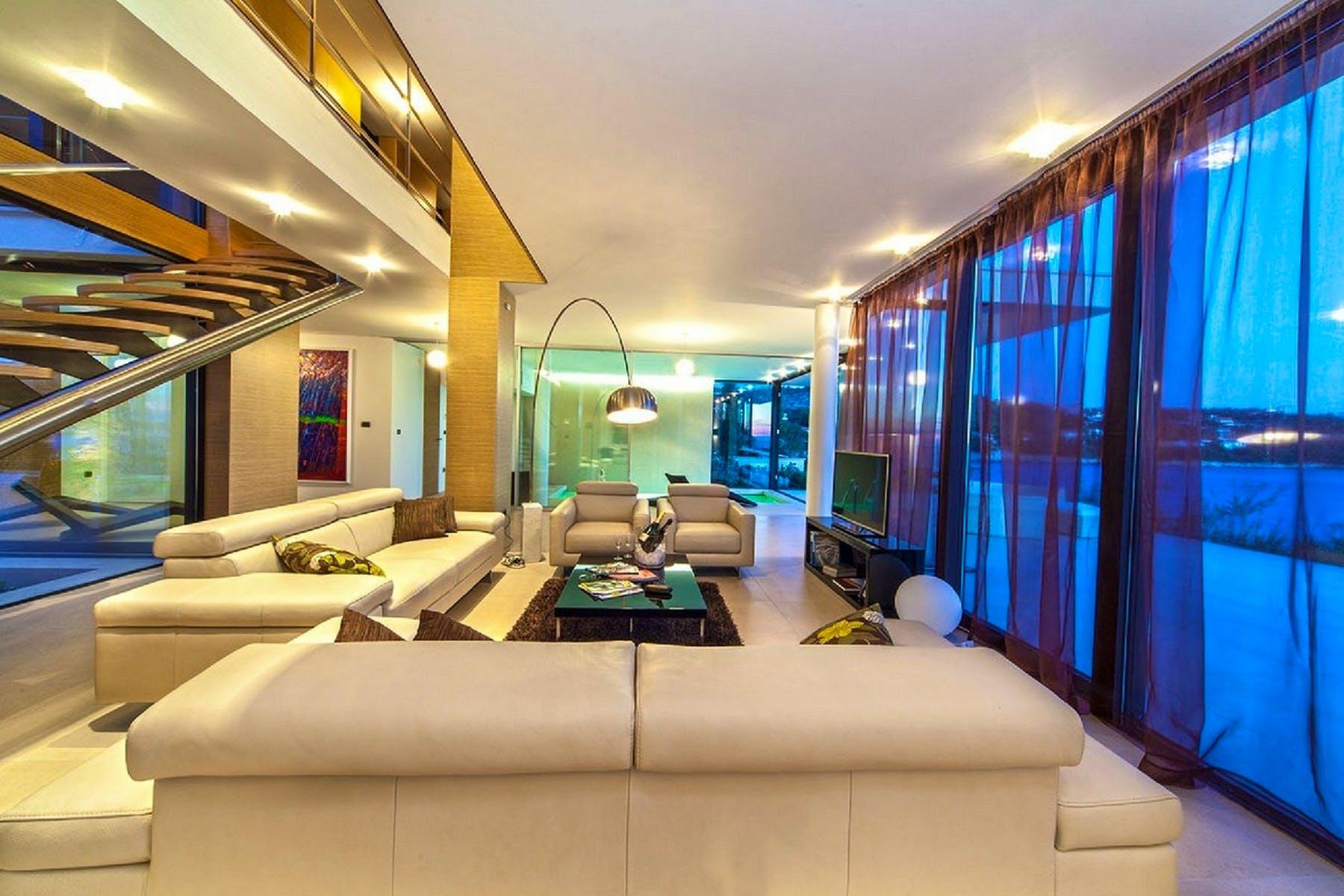 Modern interior with stunning sea view