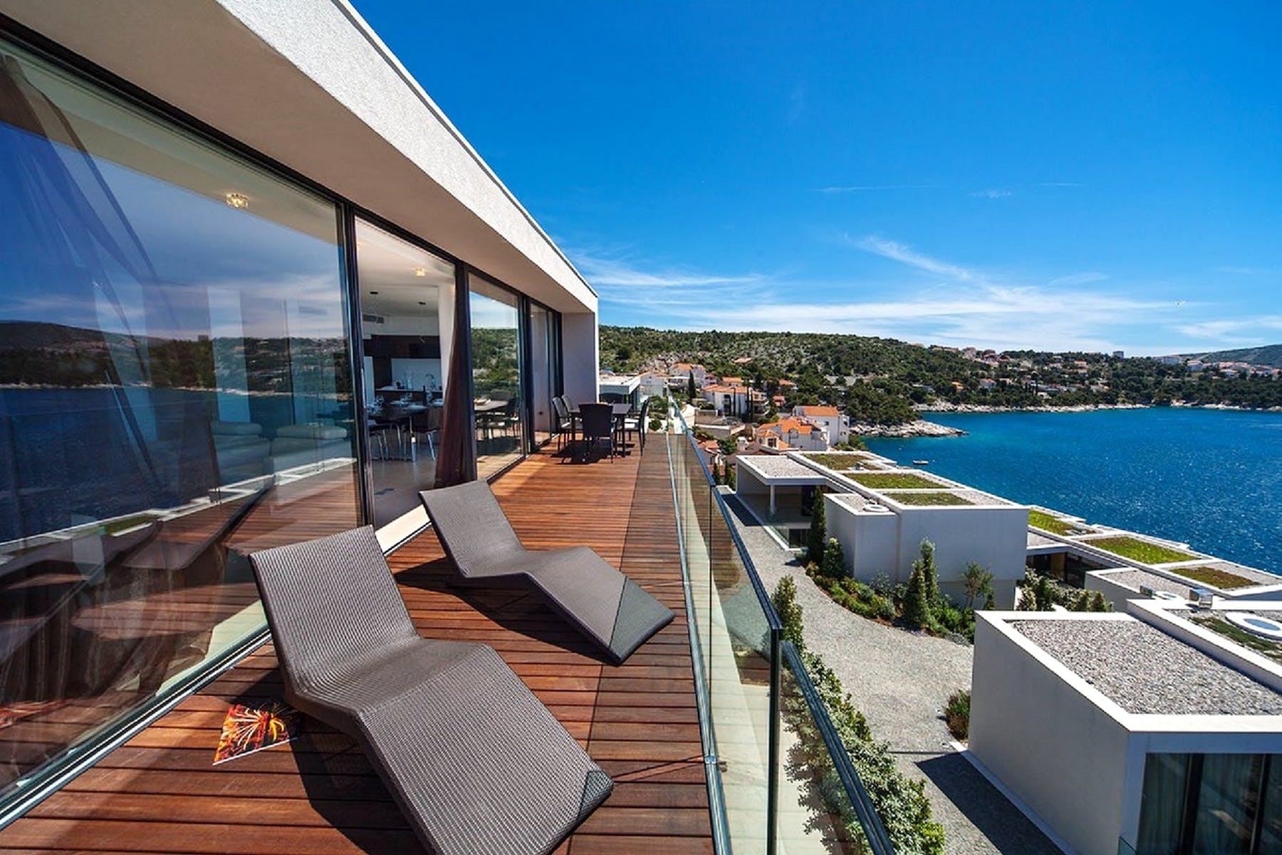 Open sea view from the villa