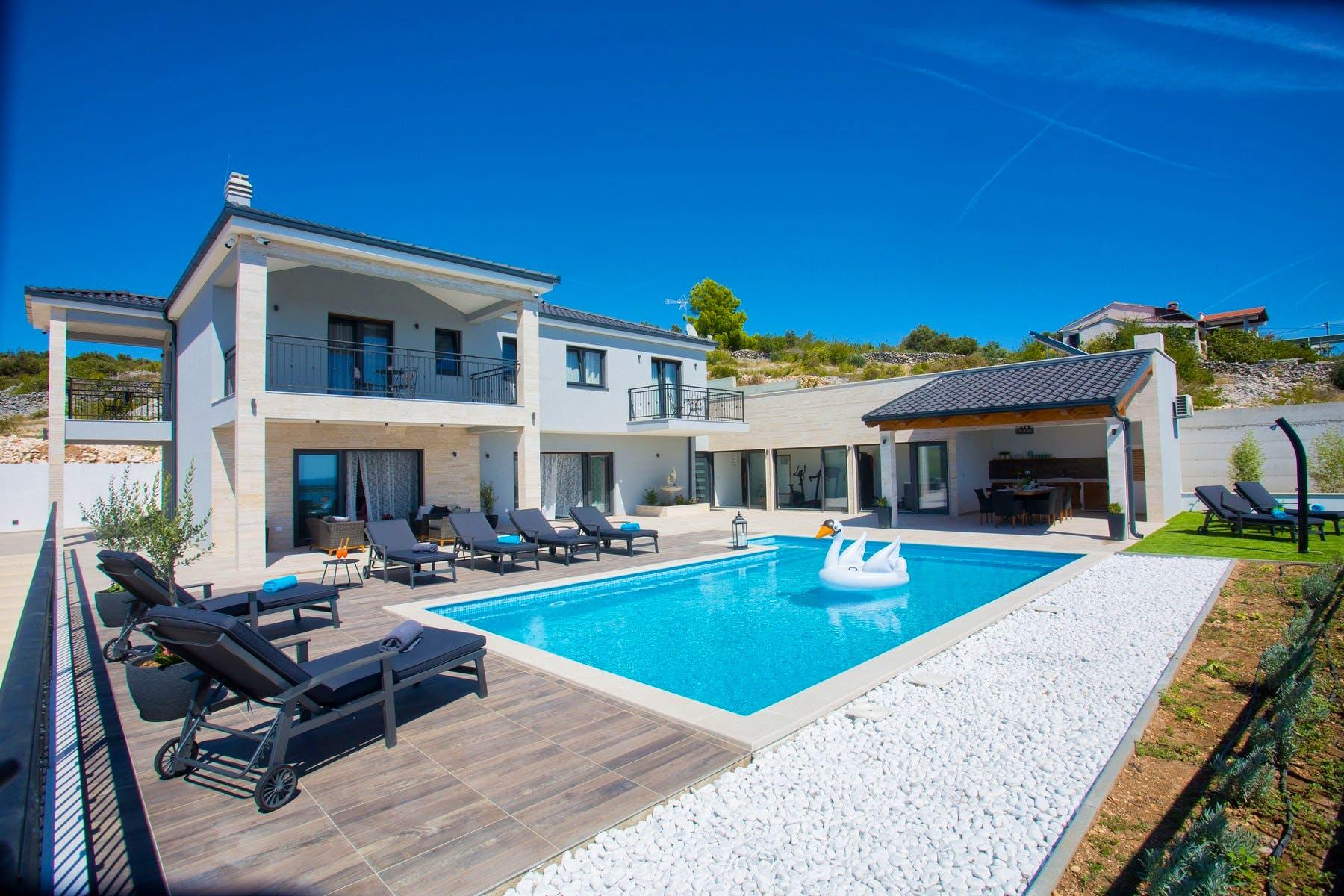 Elegant villa near Rogoznica for sale