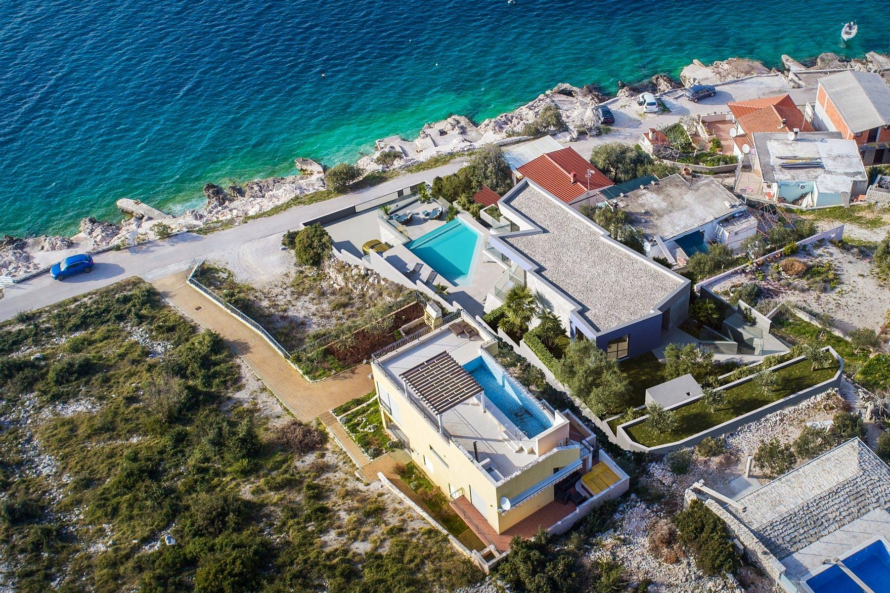 Modern villa under construction for sale