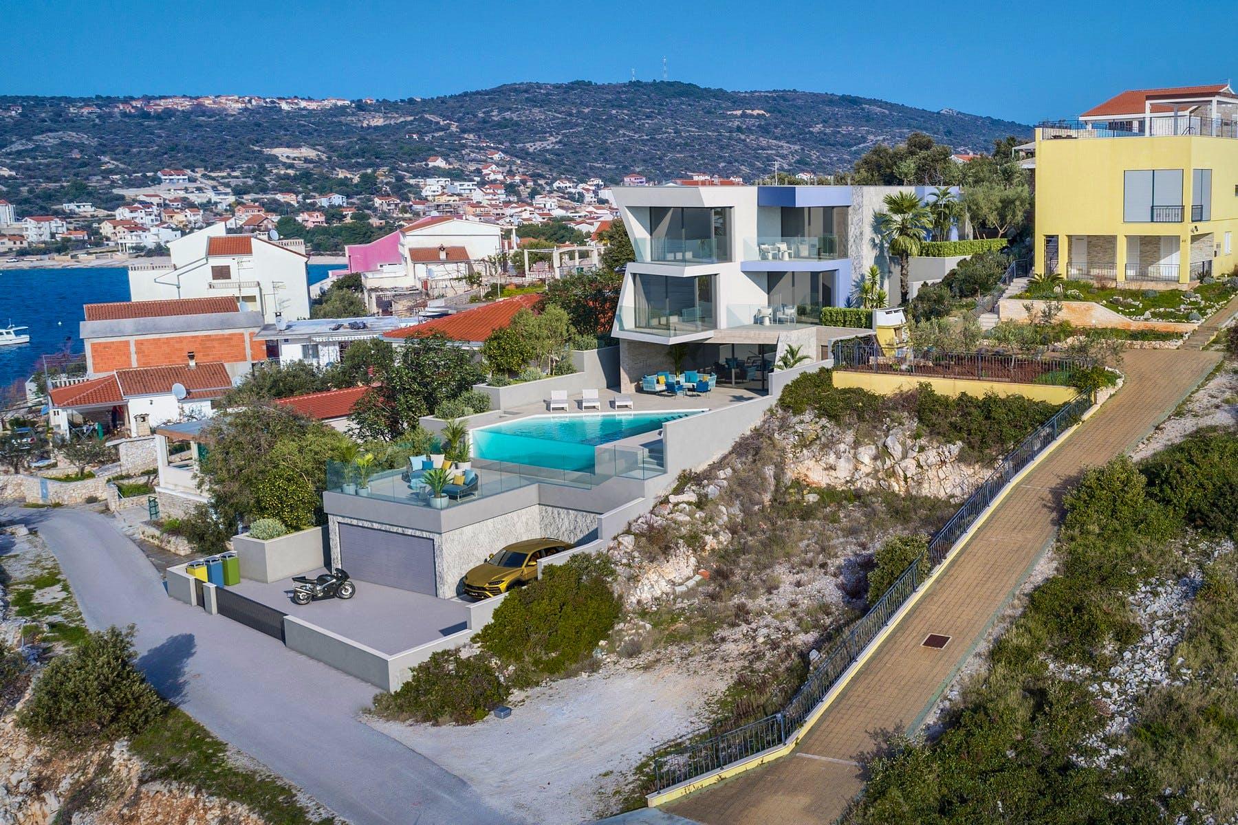 Elegant villa with modern exterior for sale