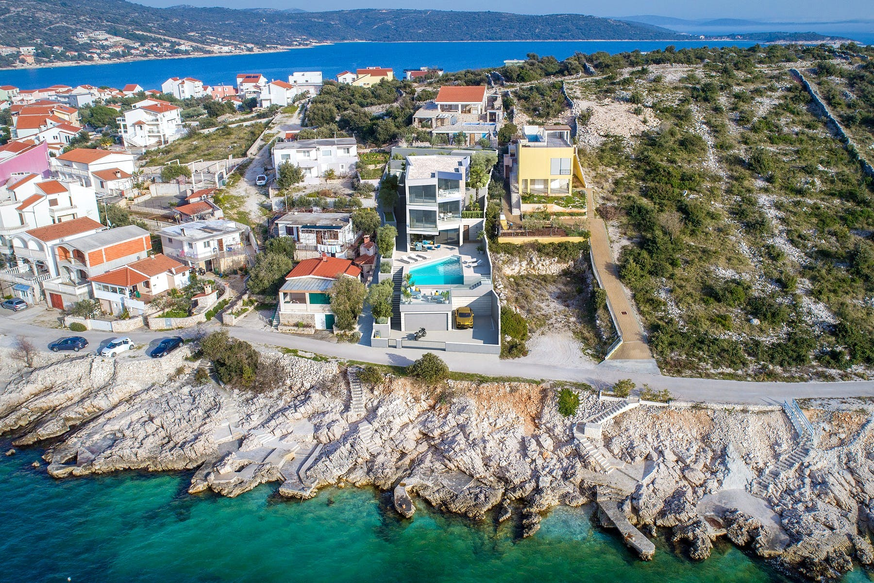 Contemporary seafront villa for sale