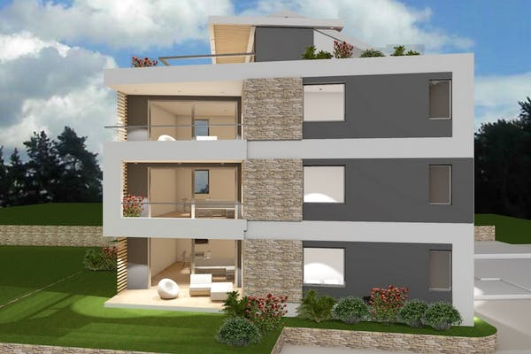 Newly built apartment in Rovinj