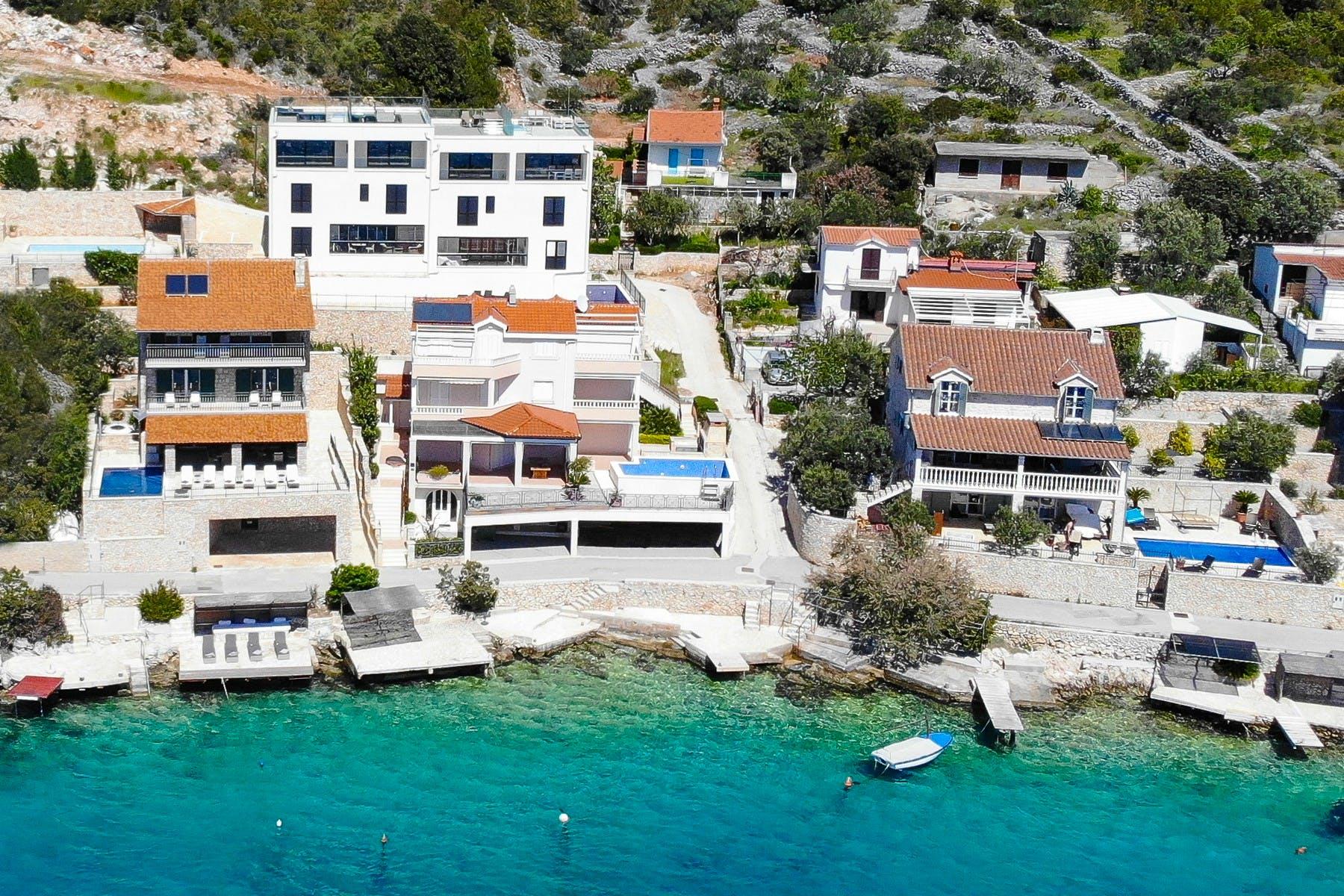 Seafront villa near Trogir for sale